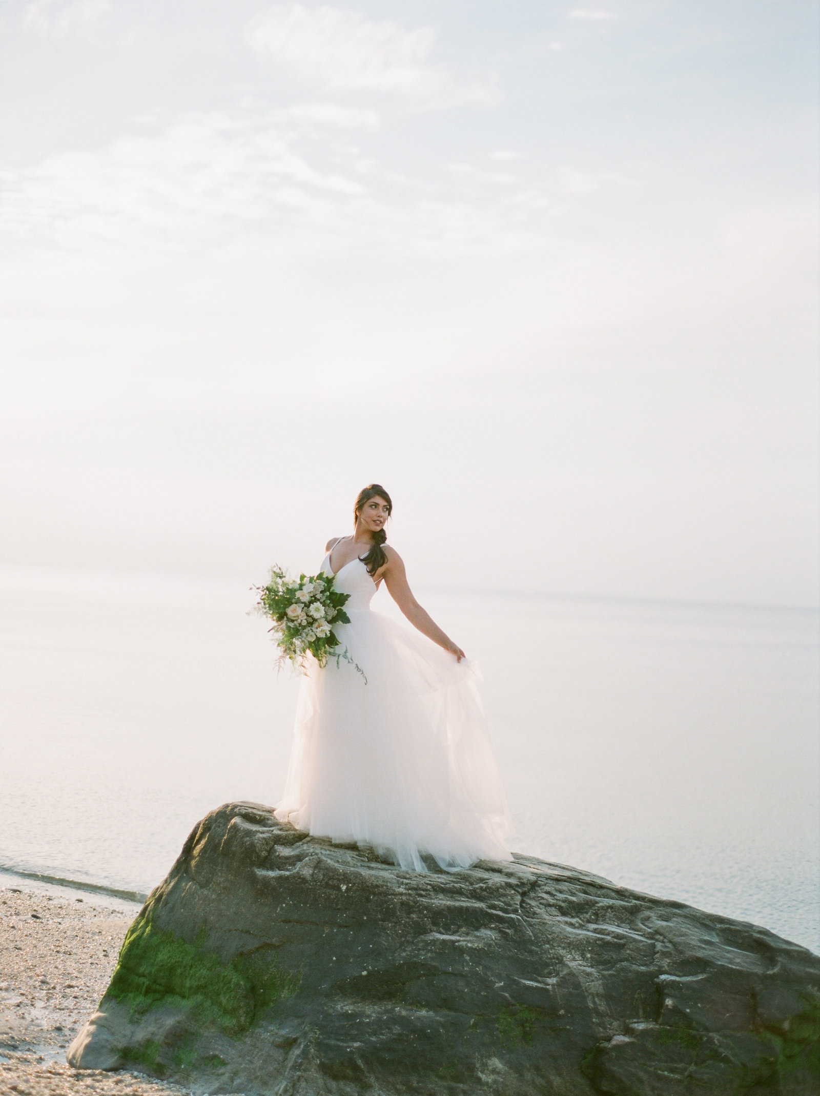 Christa O'Brien Photography Georgia Wedding photographer fine art film  amsale wedding dress long island east hampton bridal