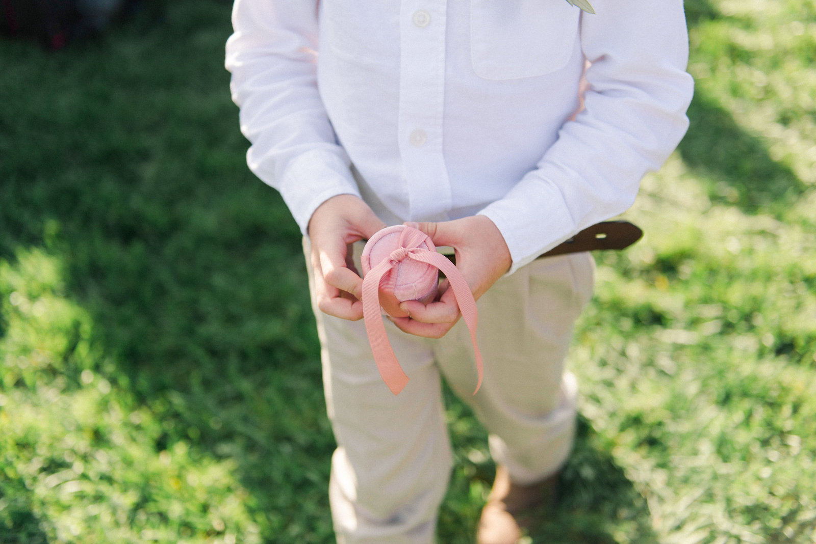 Ring Bearer Saltwater Farm Vineyard Wedding