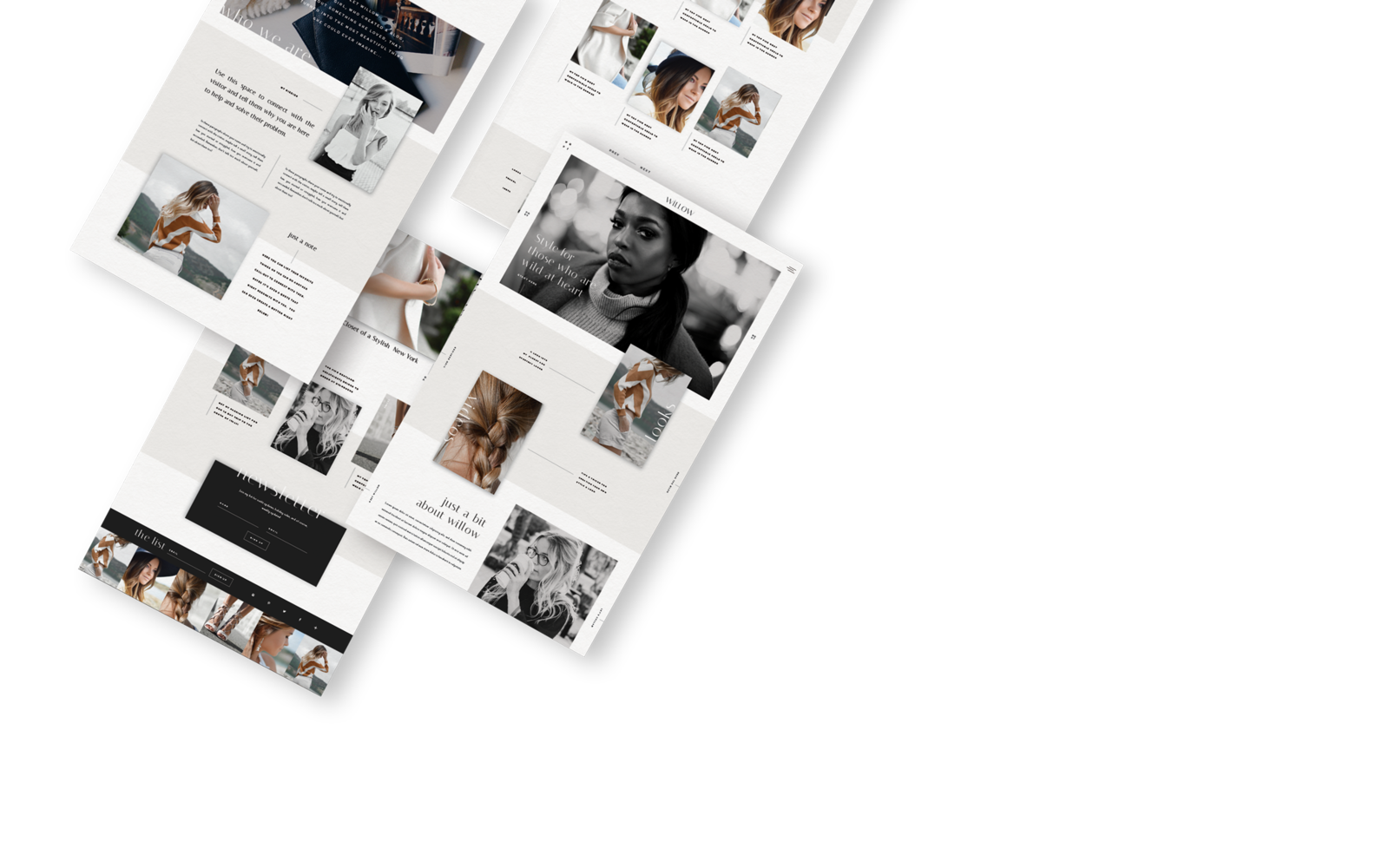 Fashion Blog Website Template Design