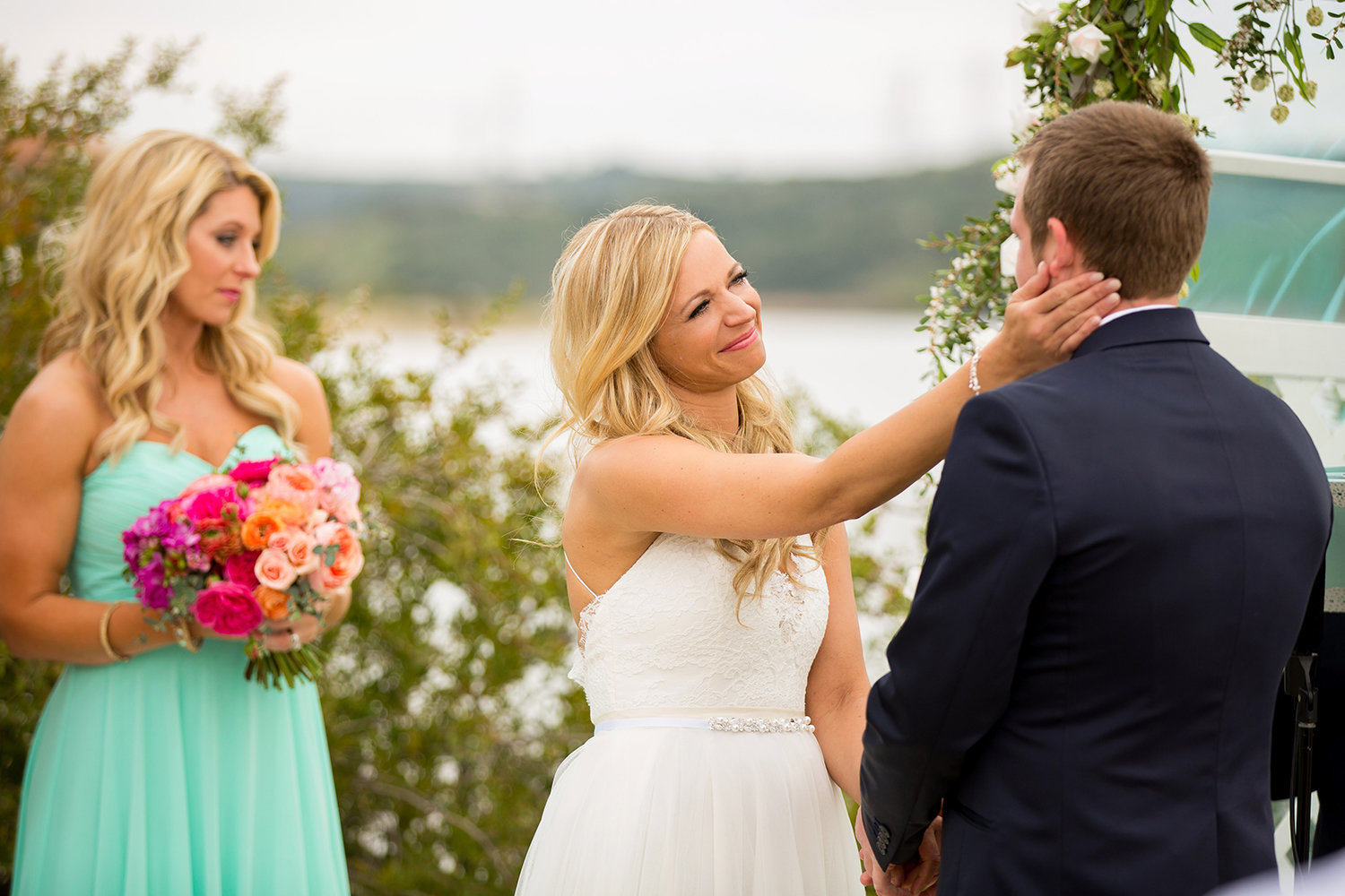 Carlsbad Lagoon wedding photos beautiful ceremony
