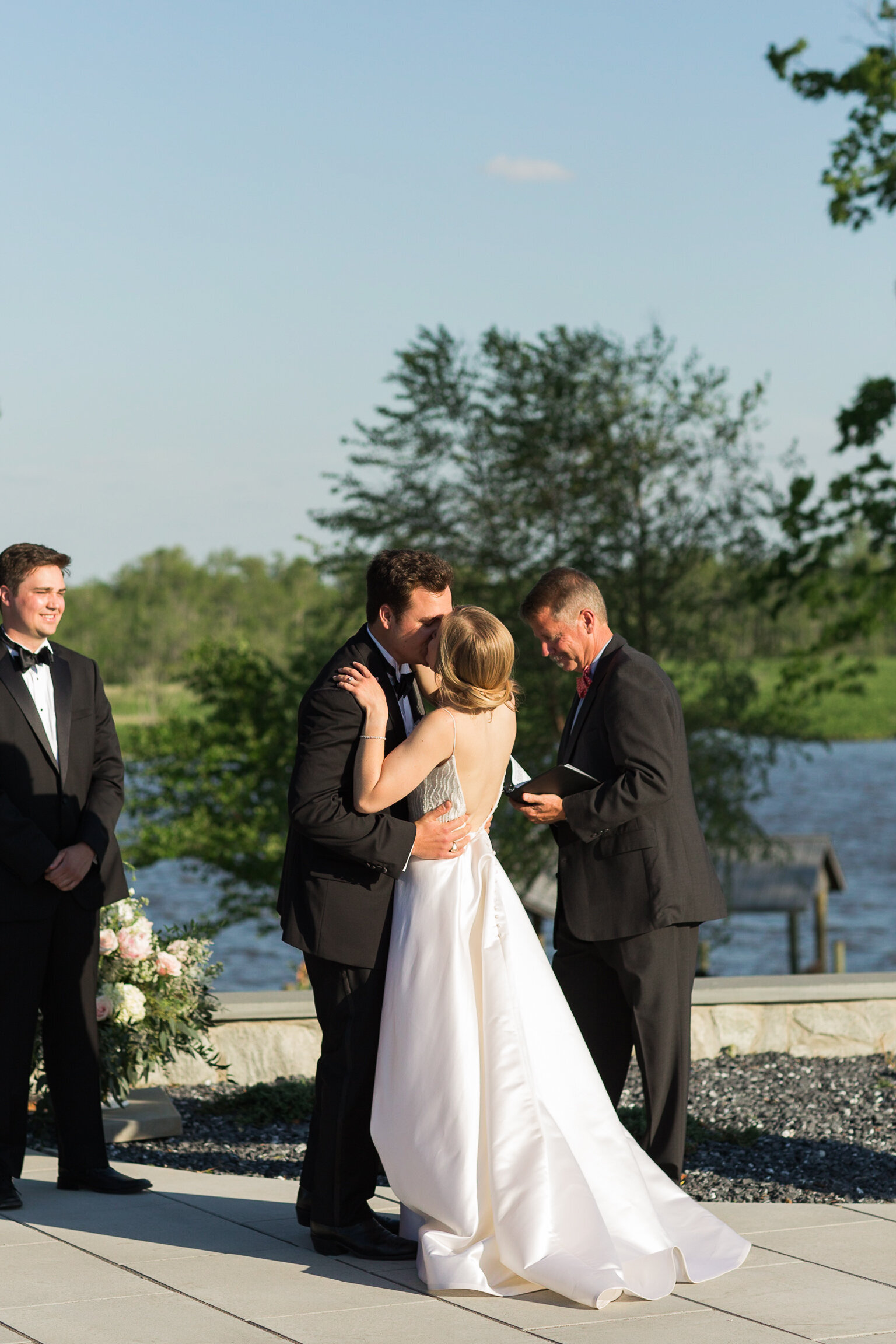 Private riverside estate wedding on the river in Virginia