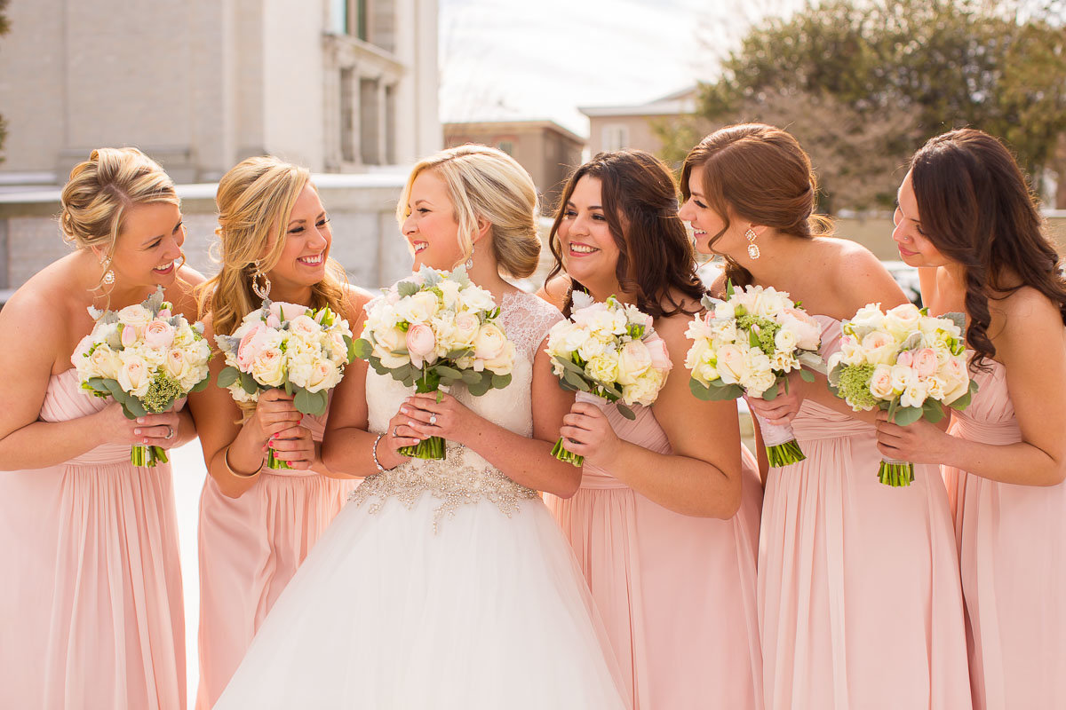 a bride with her bridesmaids in maryland