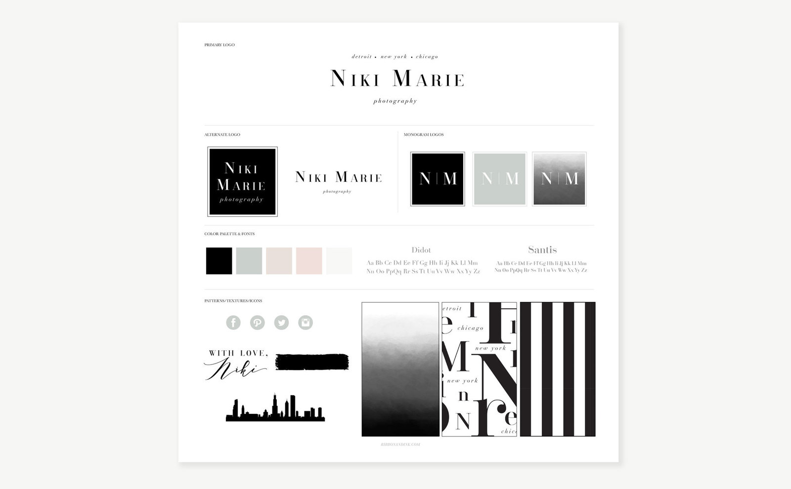 branding-for-photographers-niki-marie-brand-board