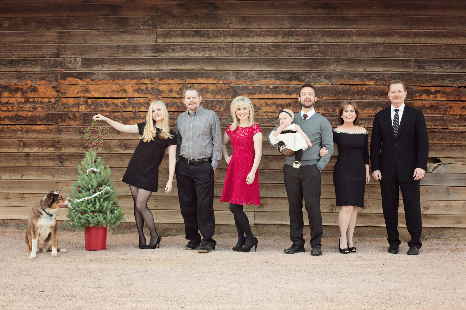 family christmas card photography