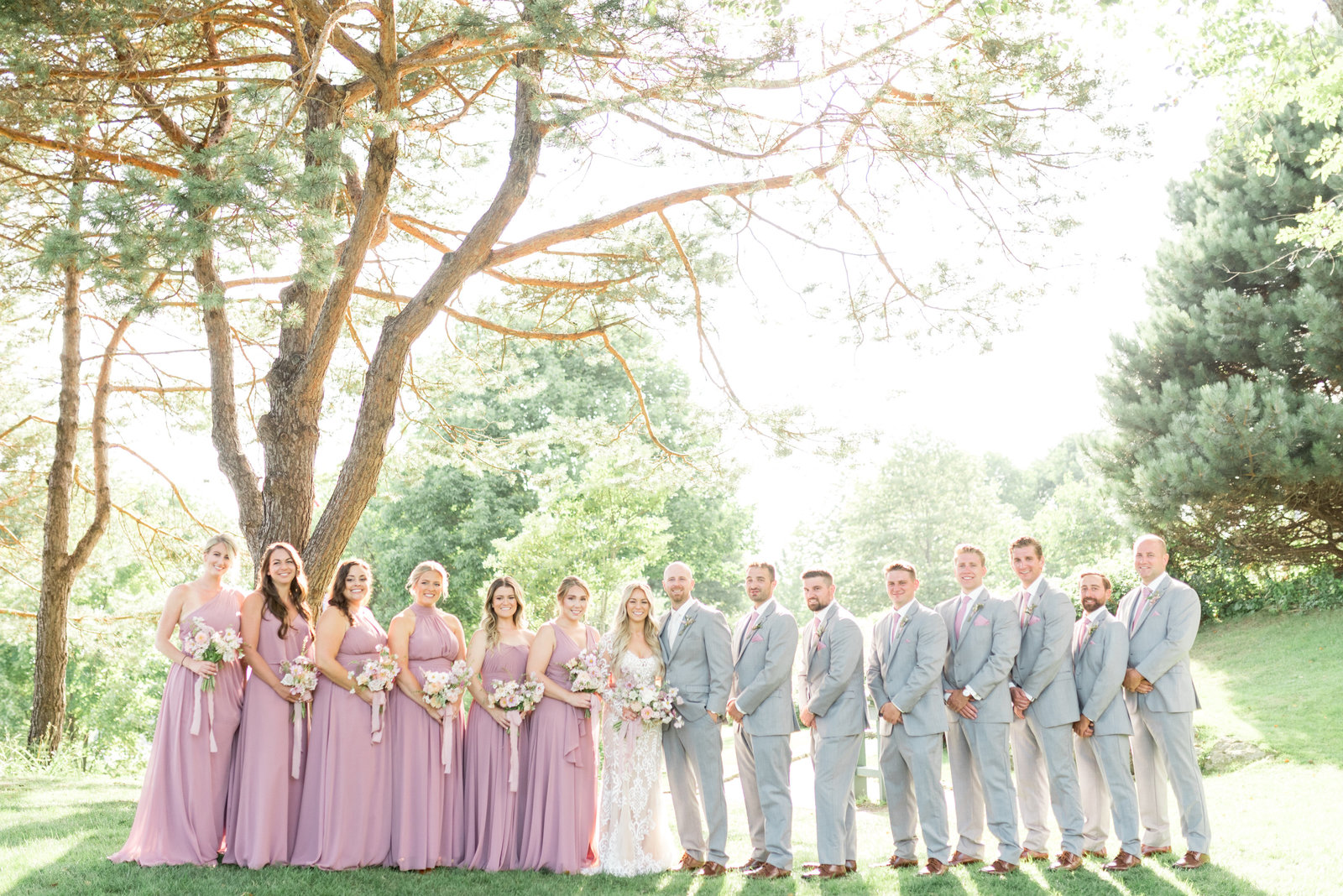 Mauve & Gray Wedding Party