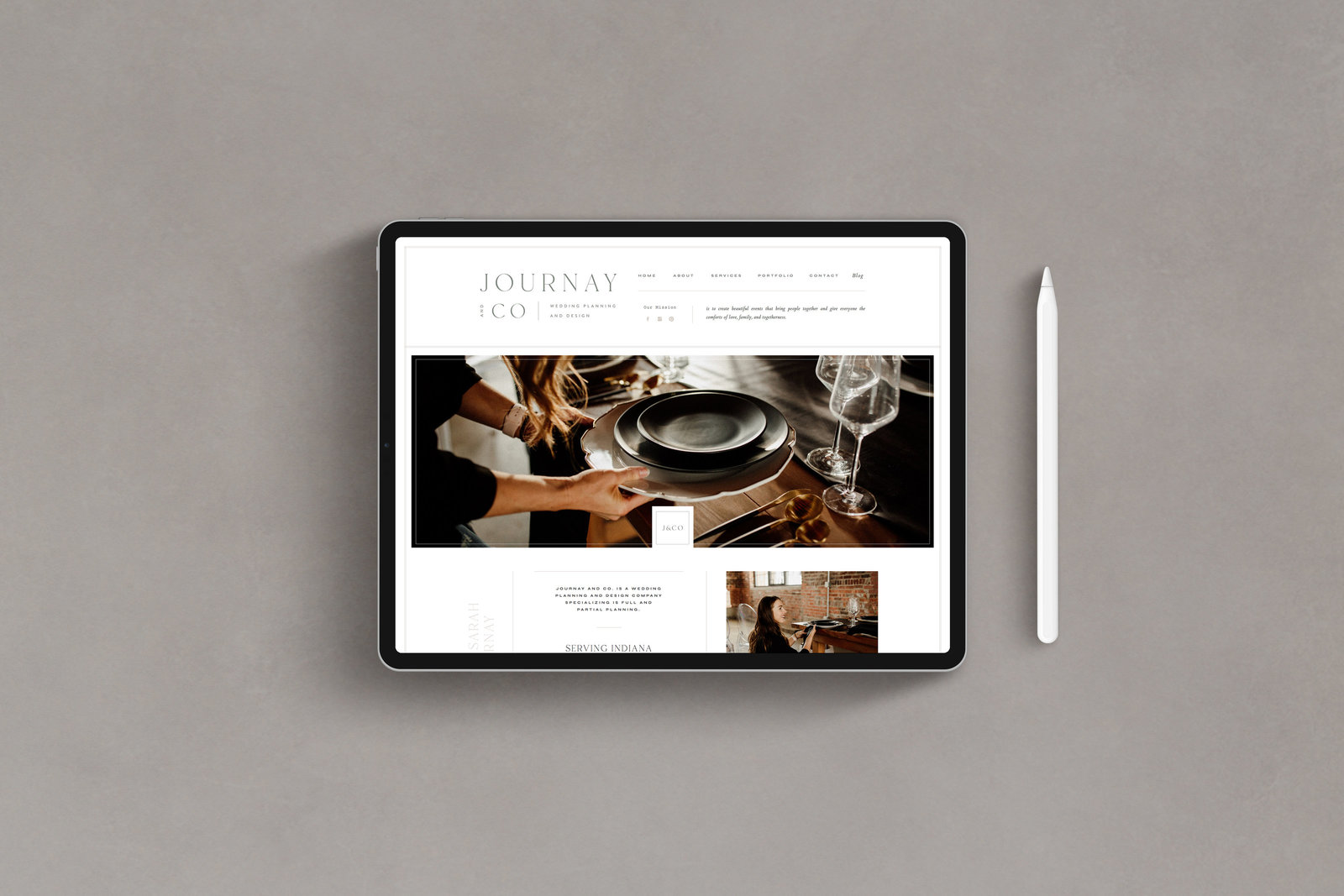 Journay and Co - Formerly Blush Events - Custom Brand and Showit Web Design by With Grace and Gold - Showit Theme, Showit Themes, Showit Template, Showit Templates, Showit Design, Showit Designer - 6
