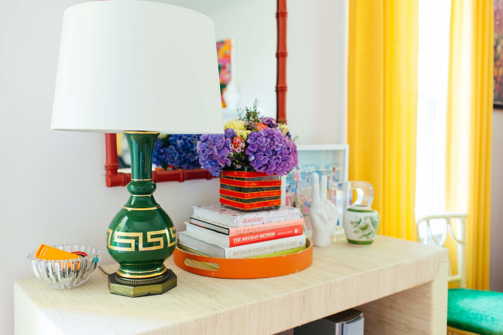 A colorfully decorated table  in Westbury, NY.