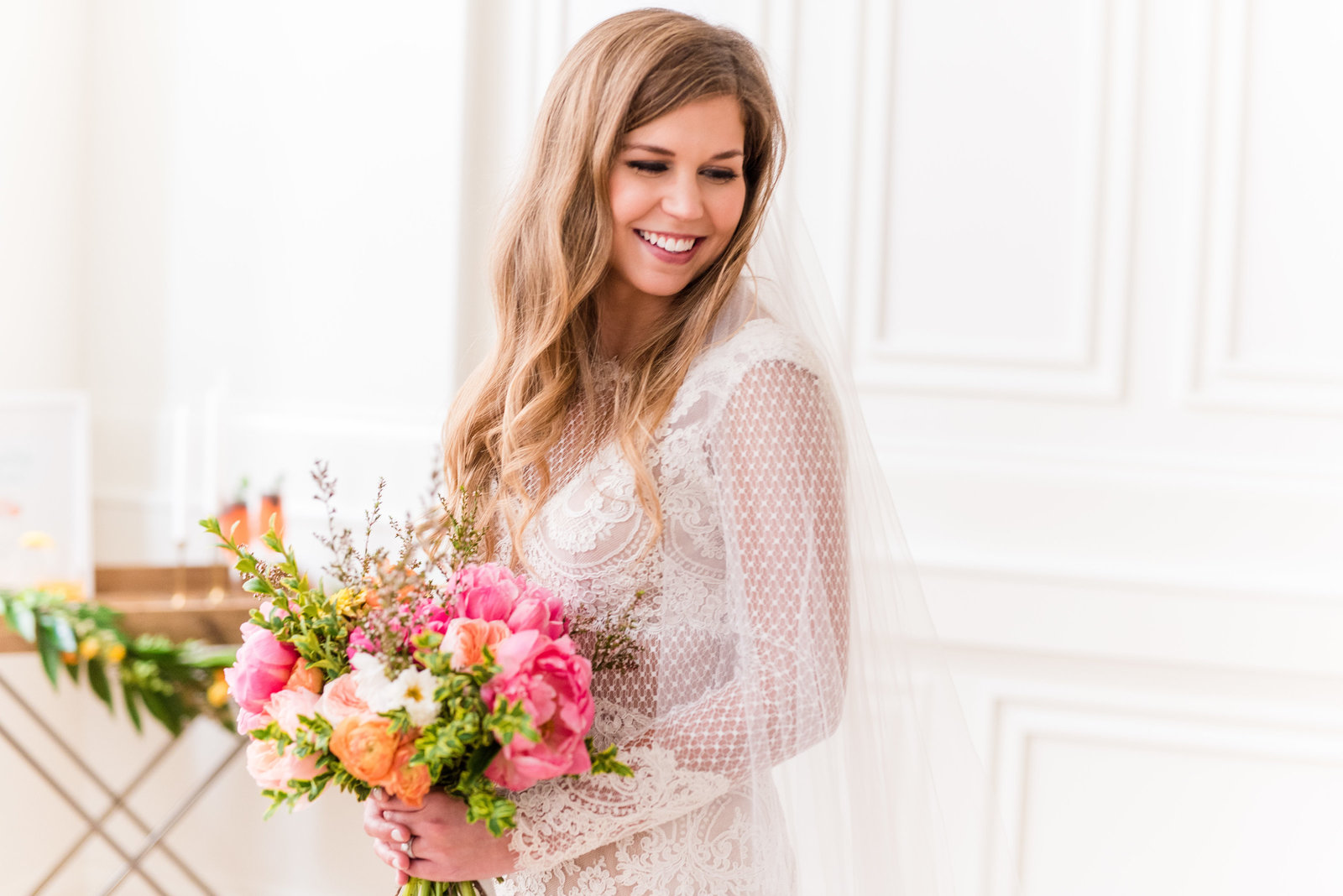 Nashville Tennessee Pink and Orange Wedding Styled Shoot