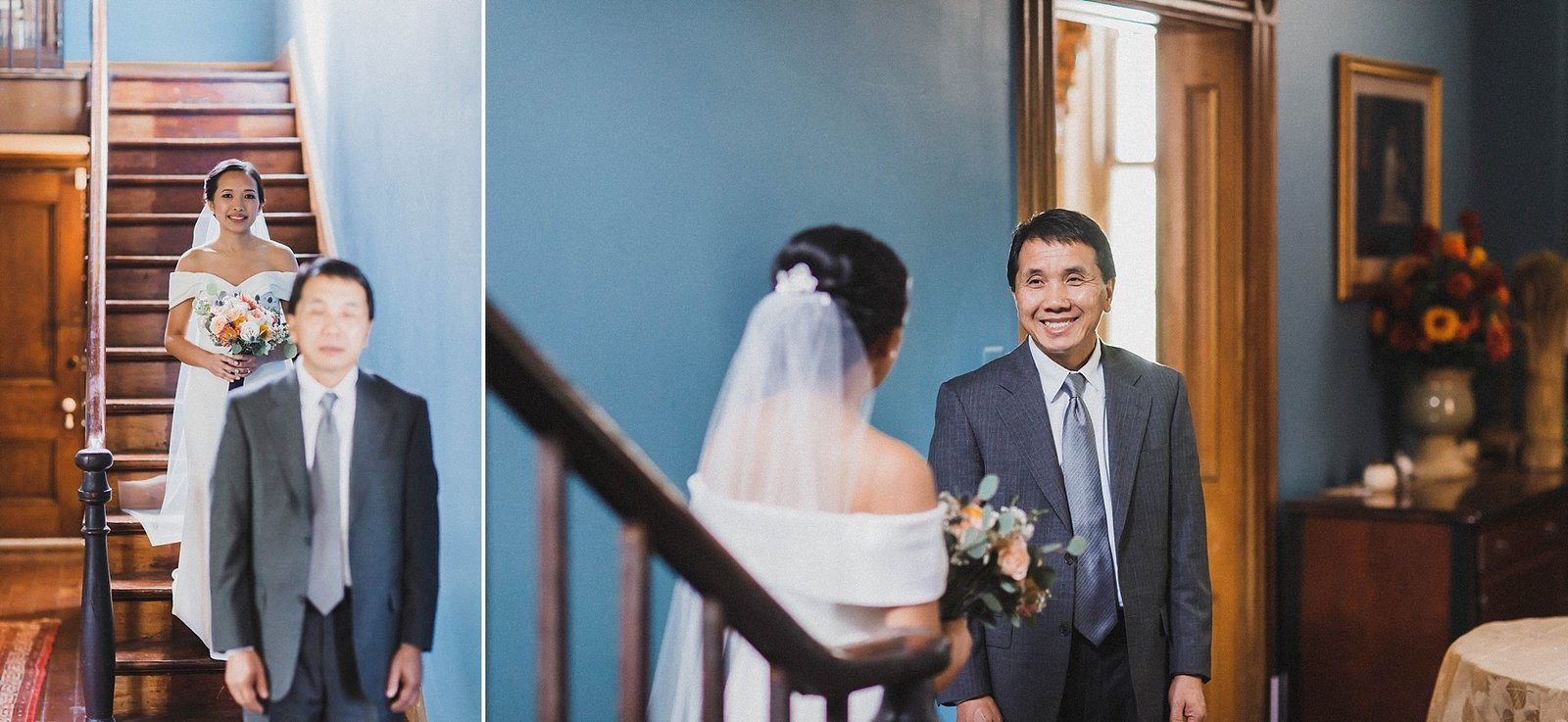 M Harris Studios_Braehead Manor_VA Wedding Photographer_dad first look