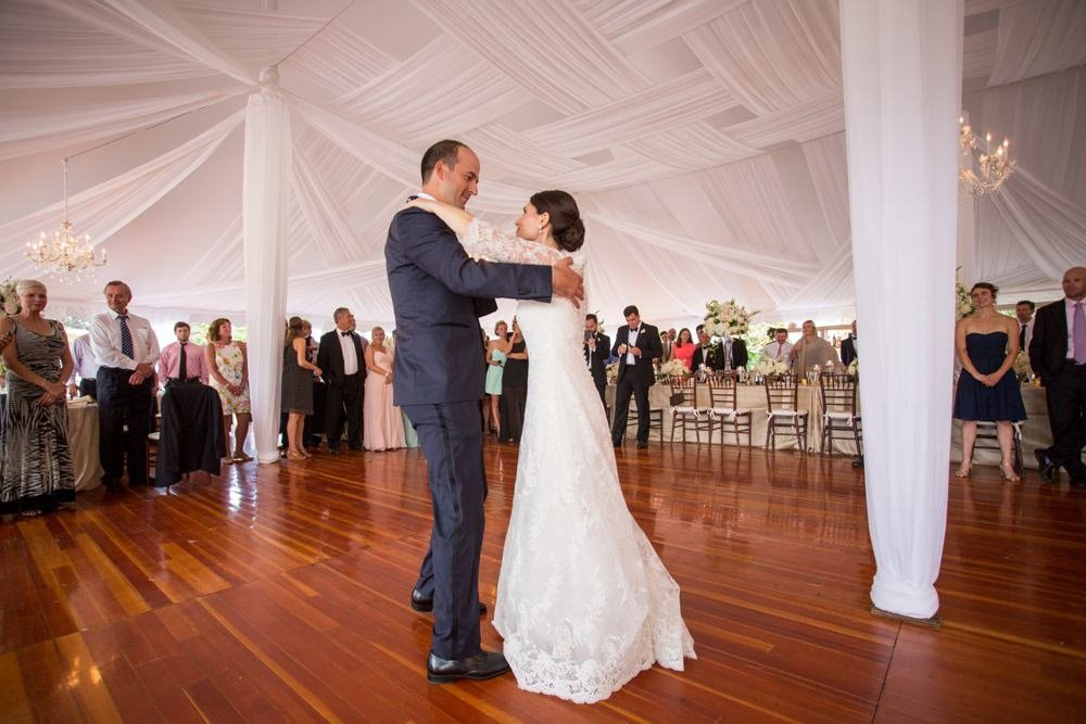 Classic tented wedding at The Eisenhower House in Newport, RI