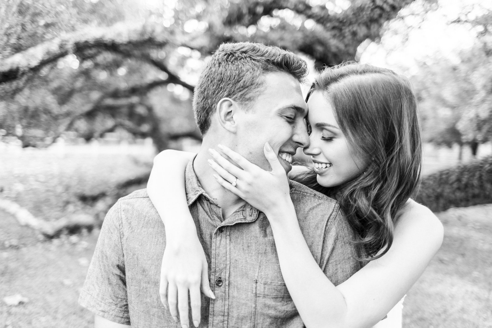 A Black and White Engagement Photo