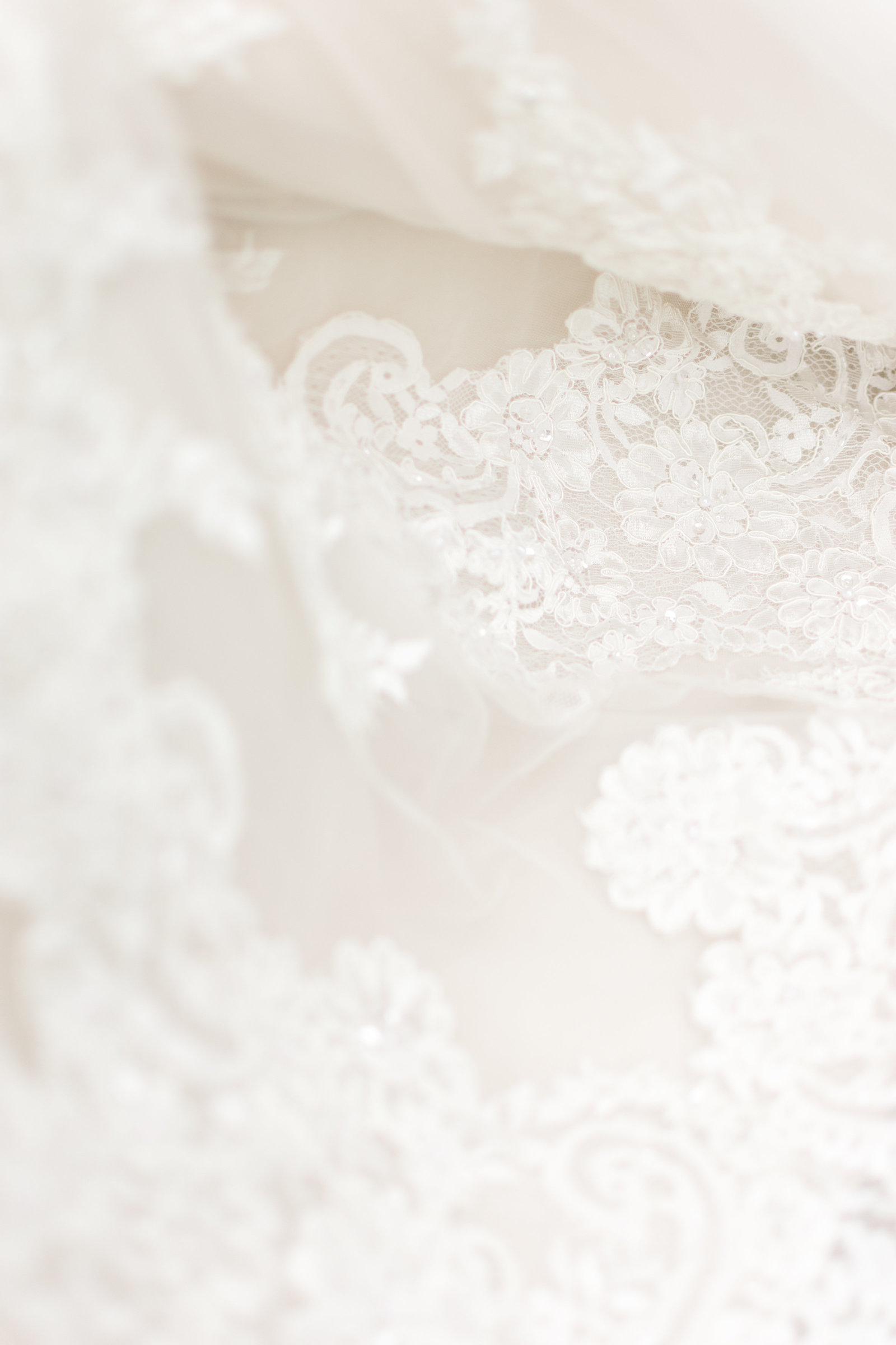 White Lace Bridal Detail