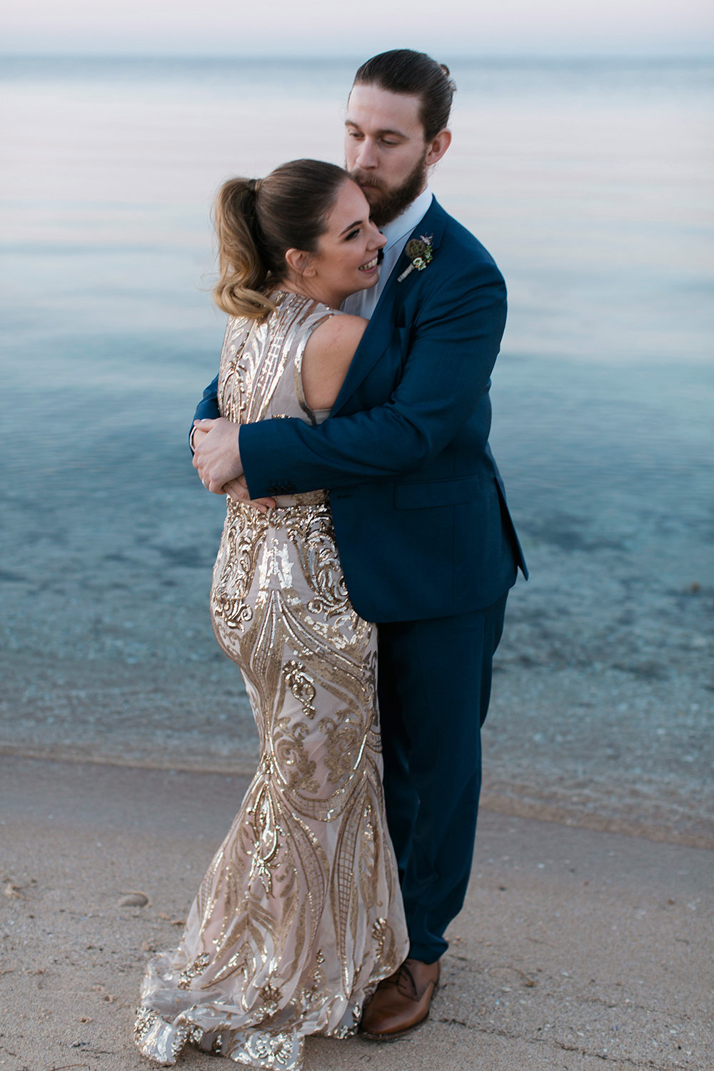 Sunset beach moments with Geelong Wedding Photographer Monika Berry