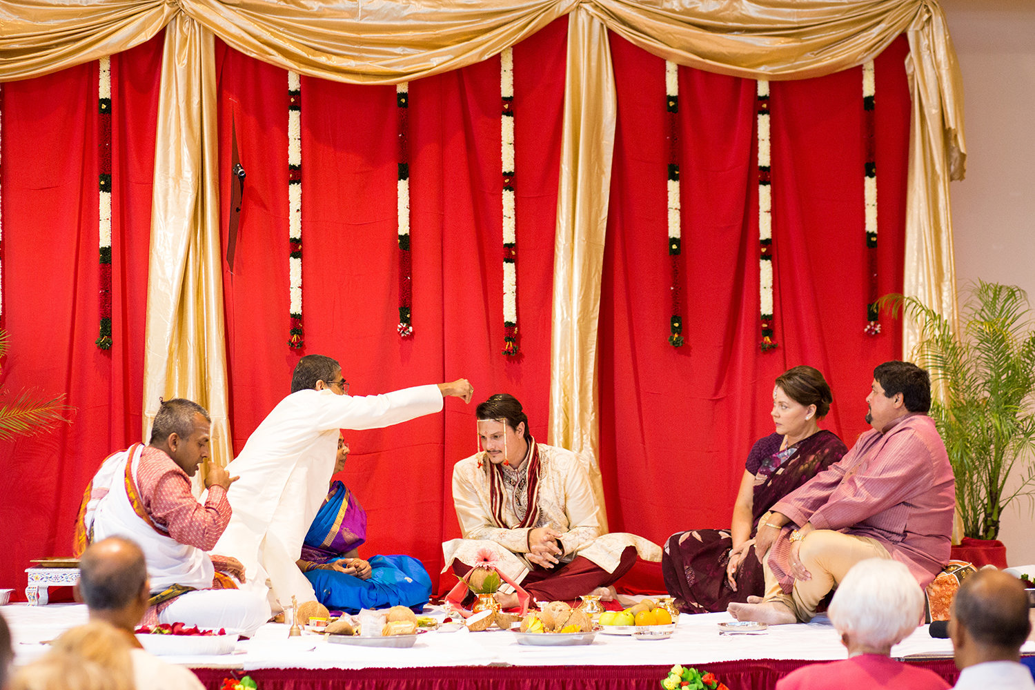 Hindu Wedding Ceremony on Mandap