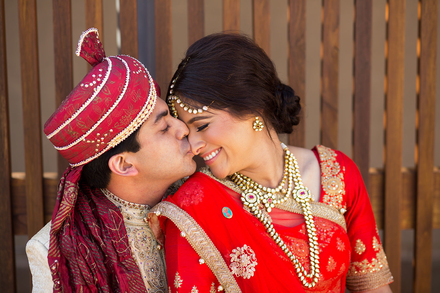 indian couple kissing nose