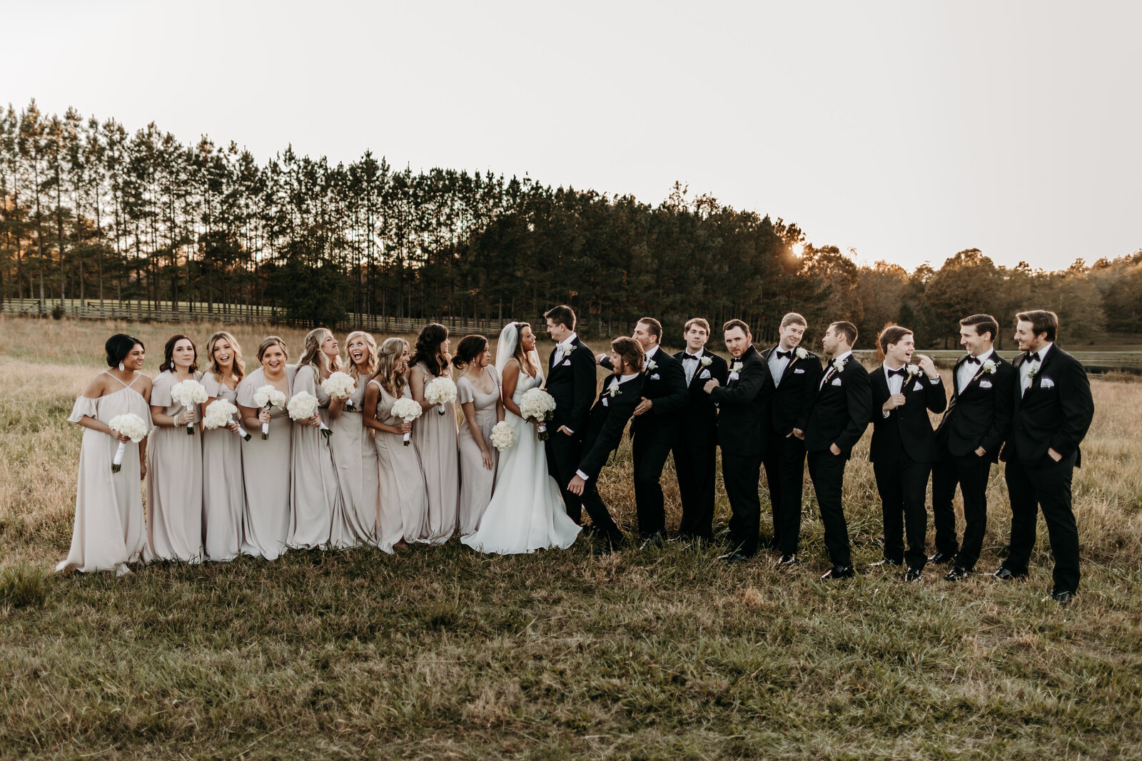 J.Michelle Photography photographs bridal party  at vintage oaks farm wedding in Athens, Ga