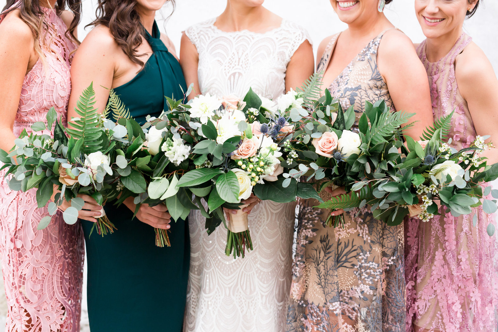 Bride floral bouquet at Lowndes Grove Plantation