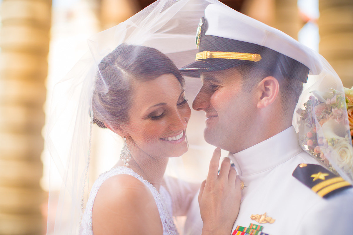 photo of a couple at the naval academy in annapolis maryland
