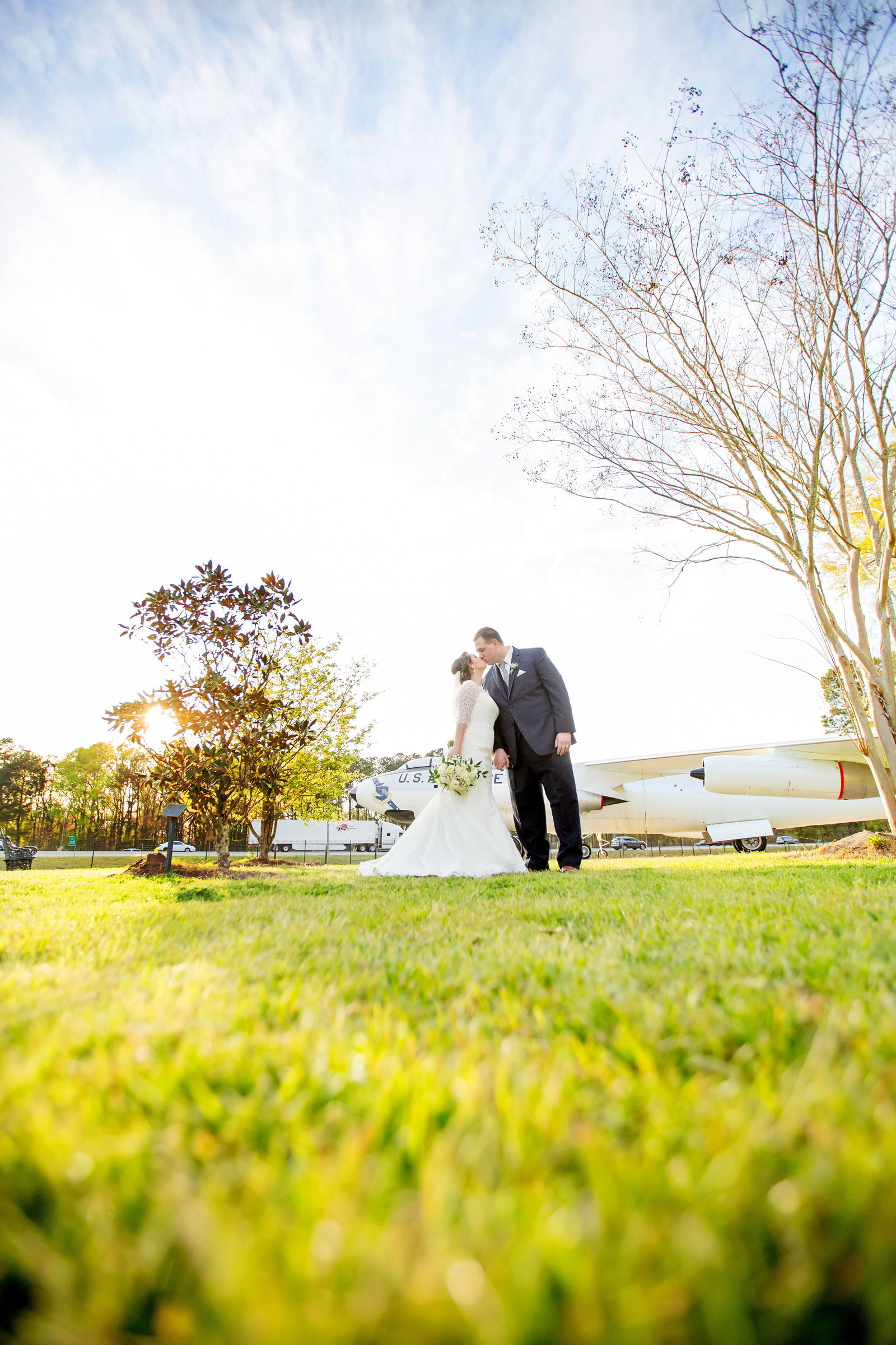 National Mighty 8th Museum Wedding, Bobbi Brinkman Photography