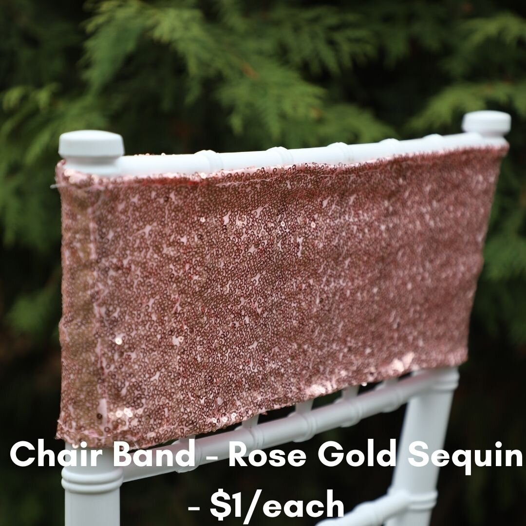 rose gold chair band