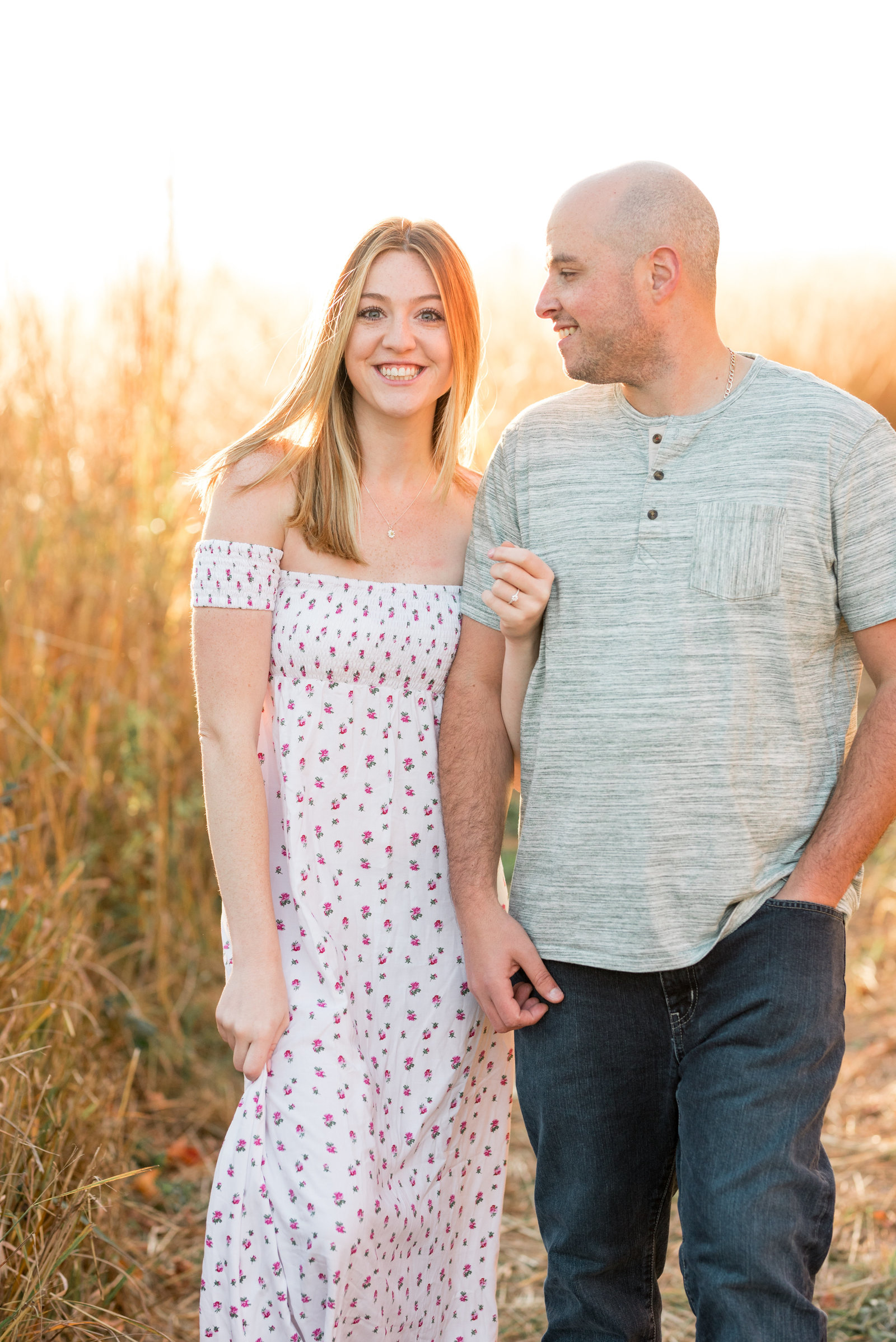 Tall Grass Engagement Session