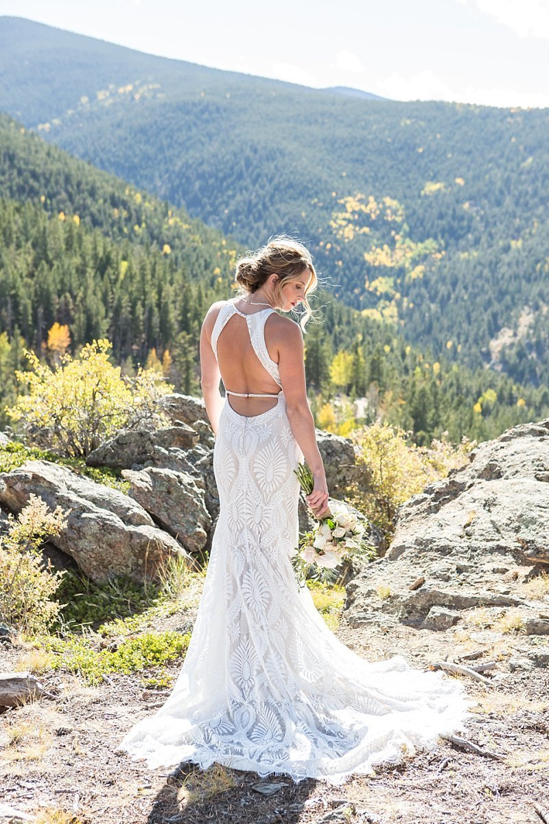 Bride portrait in the mountains