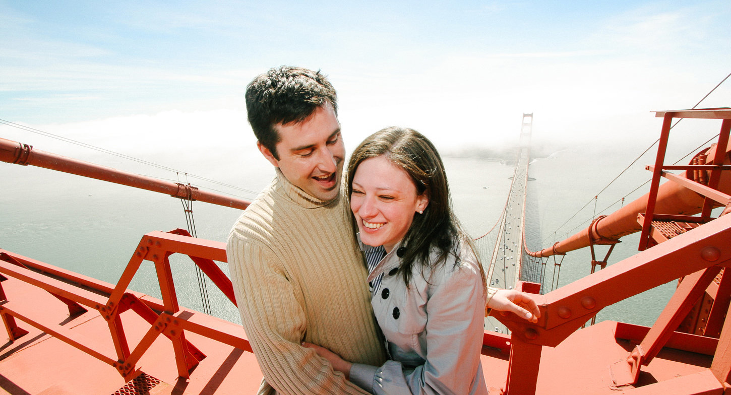 Golden Gate Bridge engagement photography in San Francisco