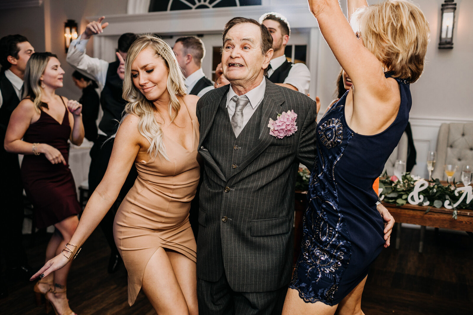 grandpa dancing wedding