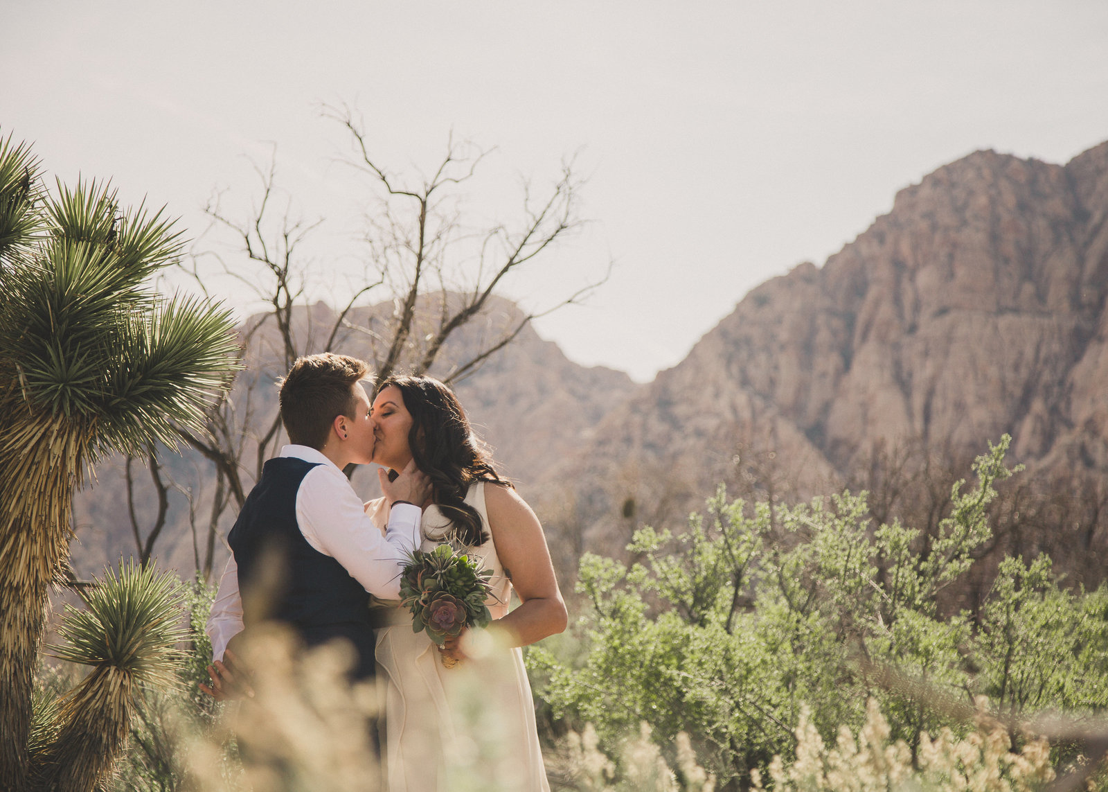 LGBTQ Intimate Destination Wedding at Spring Mountain Ranch