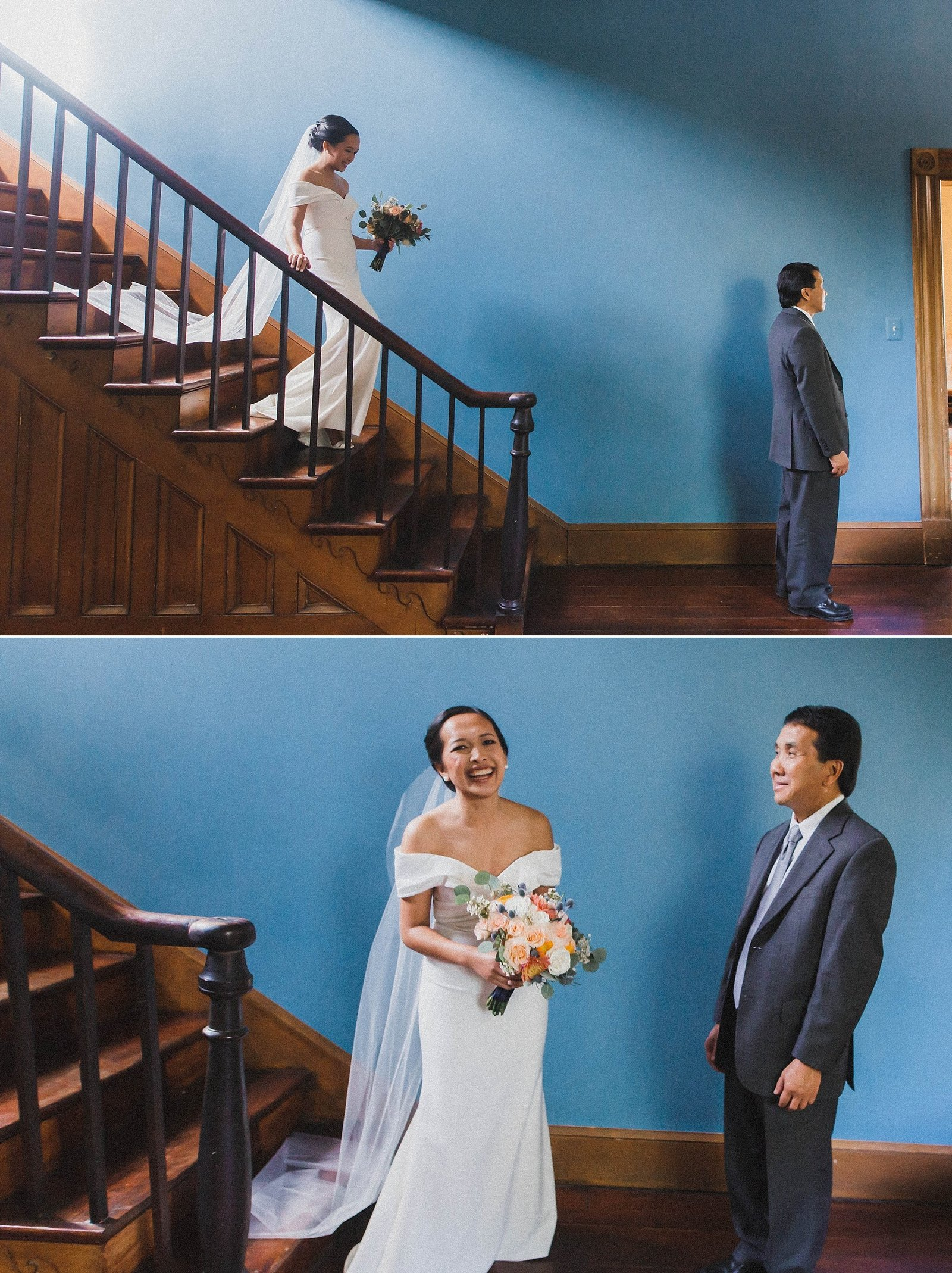 M Harris Studios_Braehead Manor_VA Wedding Photographer_first look with father