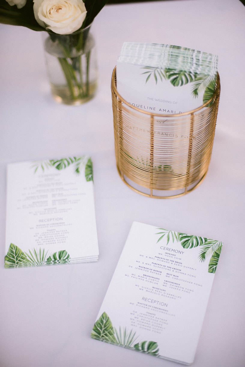 wedding programs palm