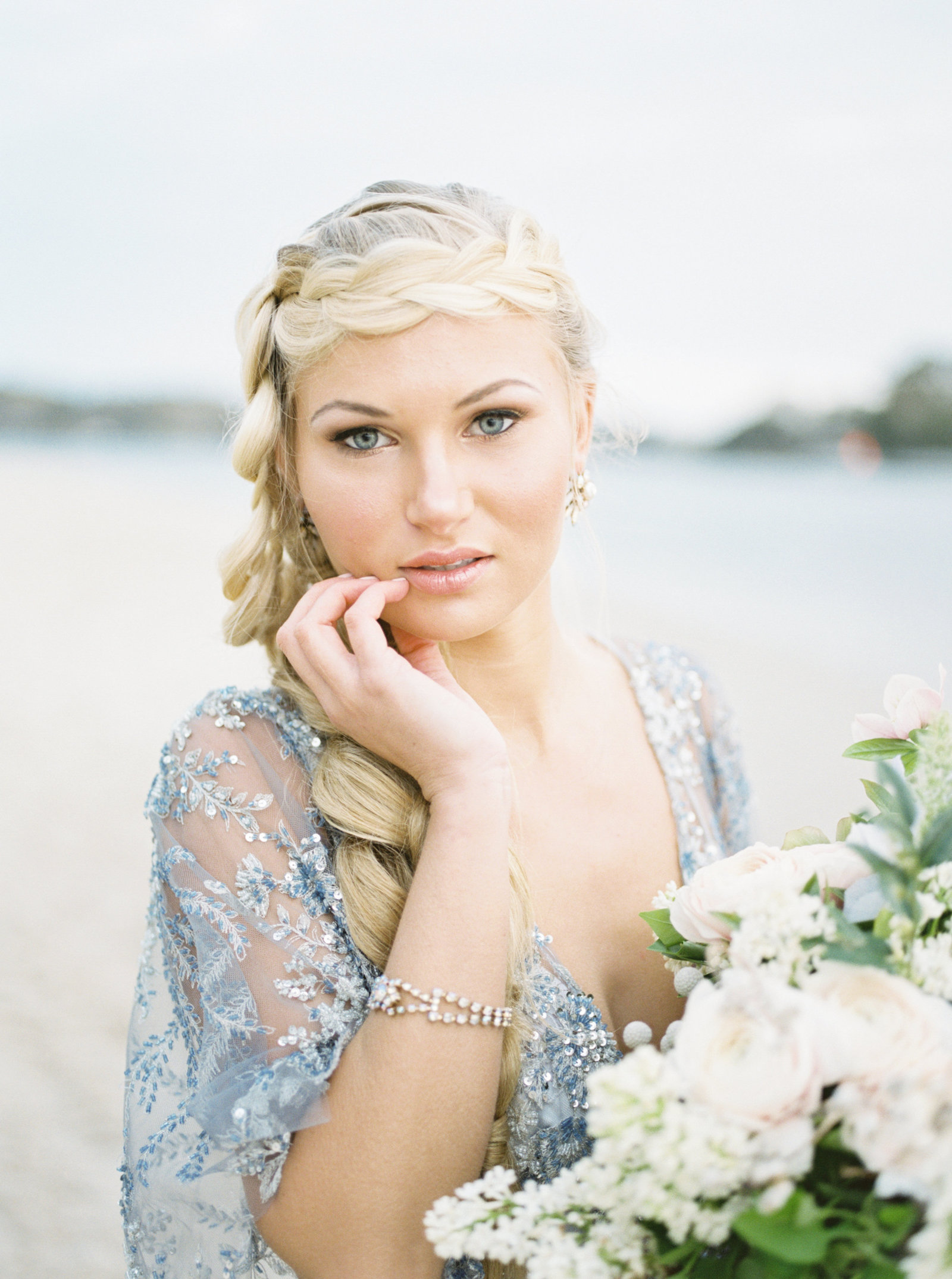 Dusty Blue Wedding Dress