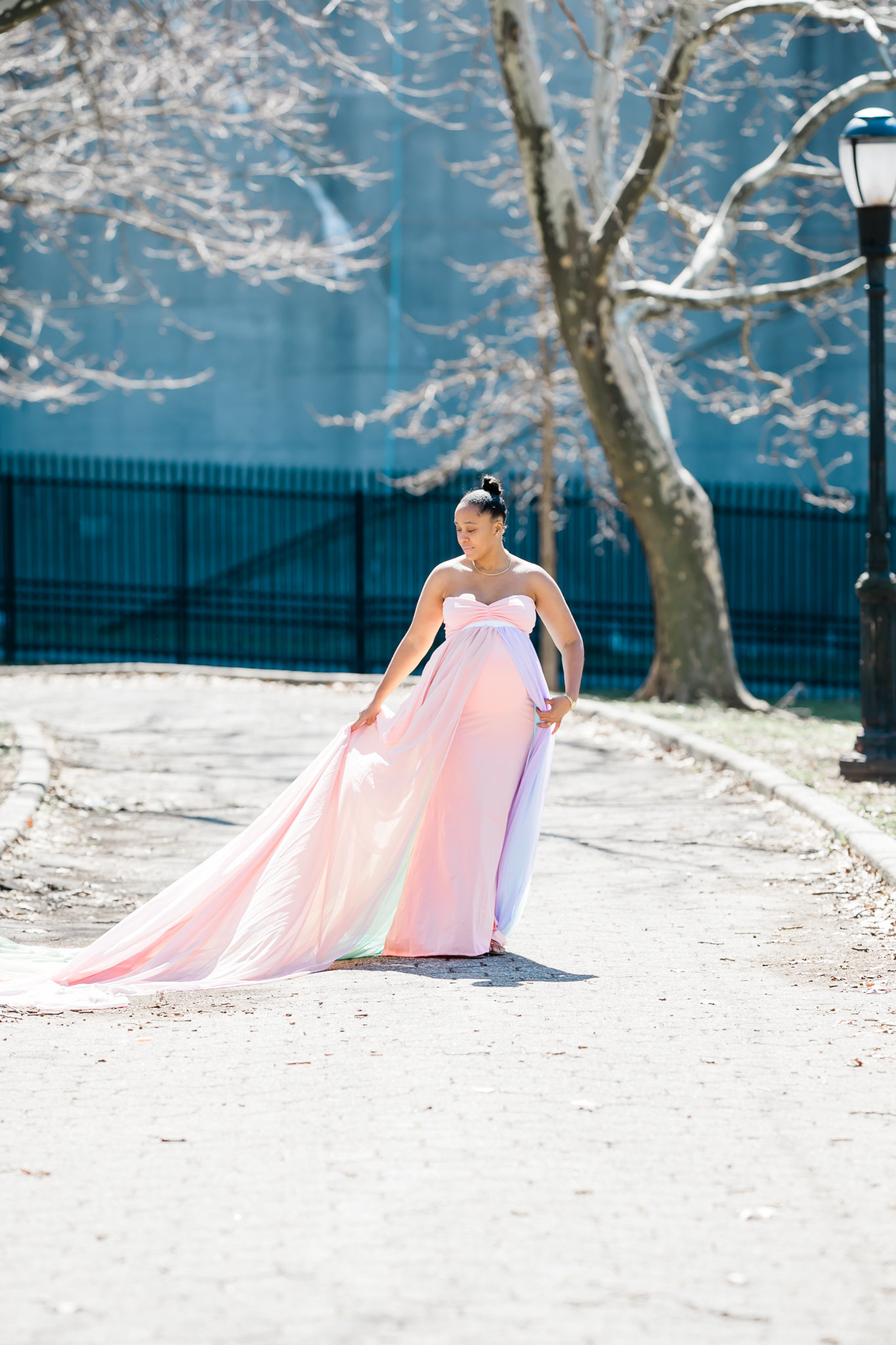 Dreamcatcher Rose Studios - maternity - brooklyn ny - pregnant on the runway