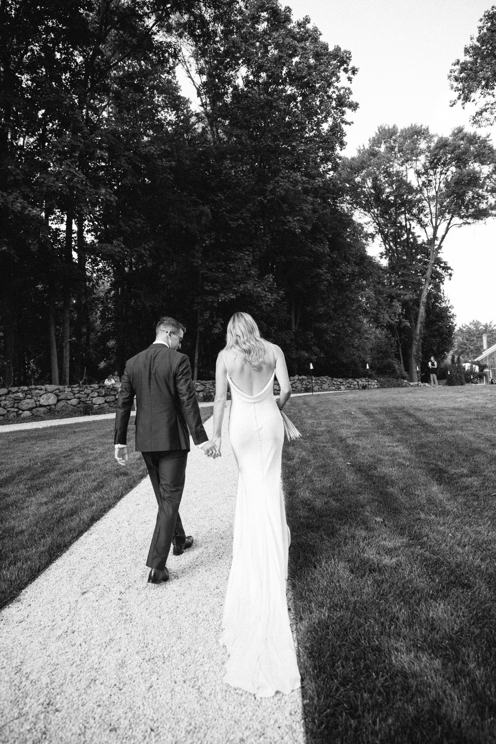 Outdoor Ceremony_Home Tented Wedding_Boho Wedding_Darien_Connecticut_11