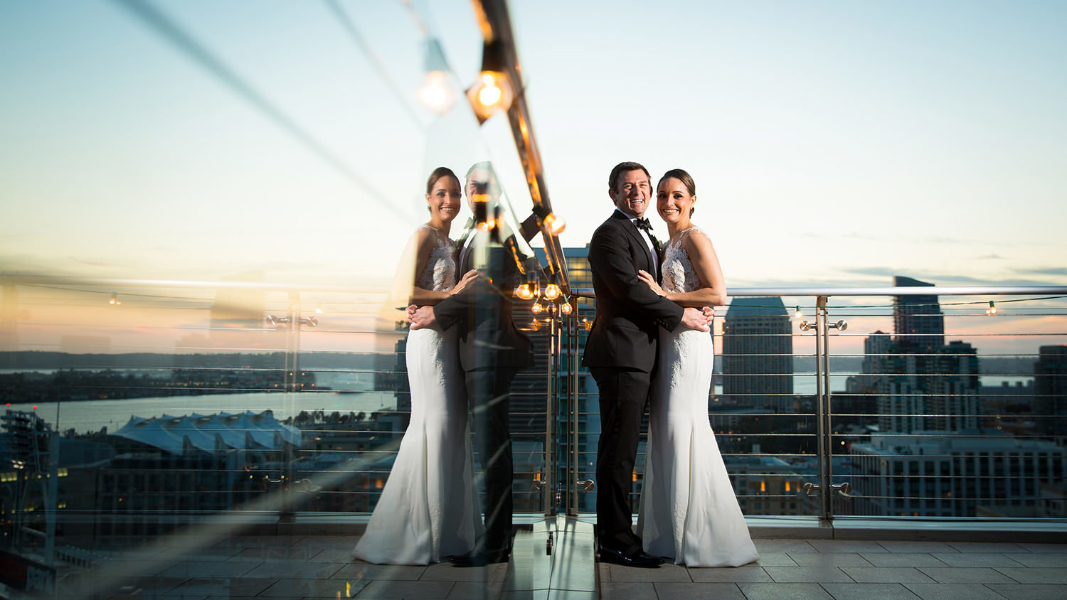 Creative wedding photography angles