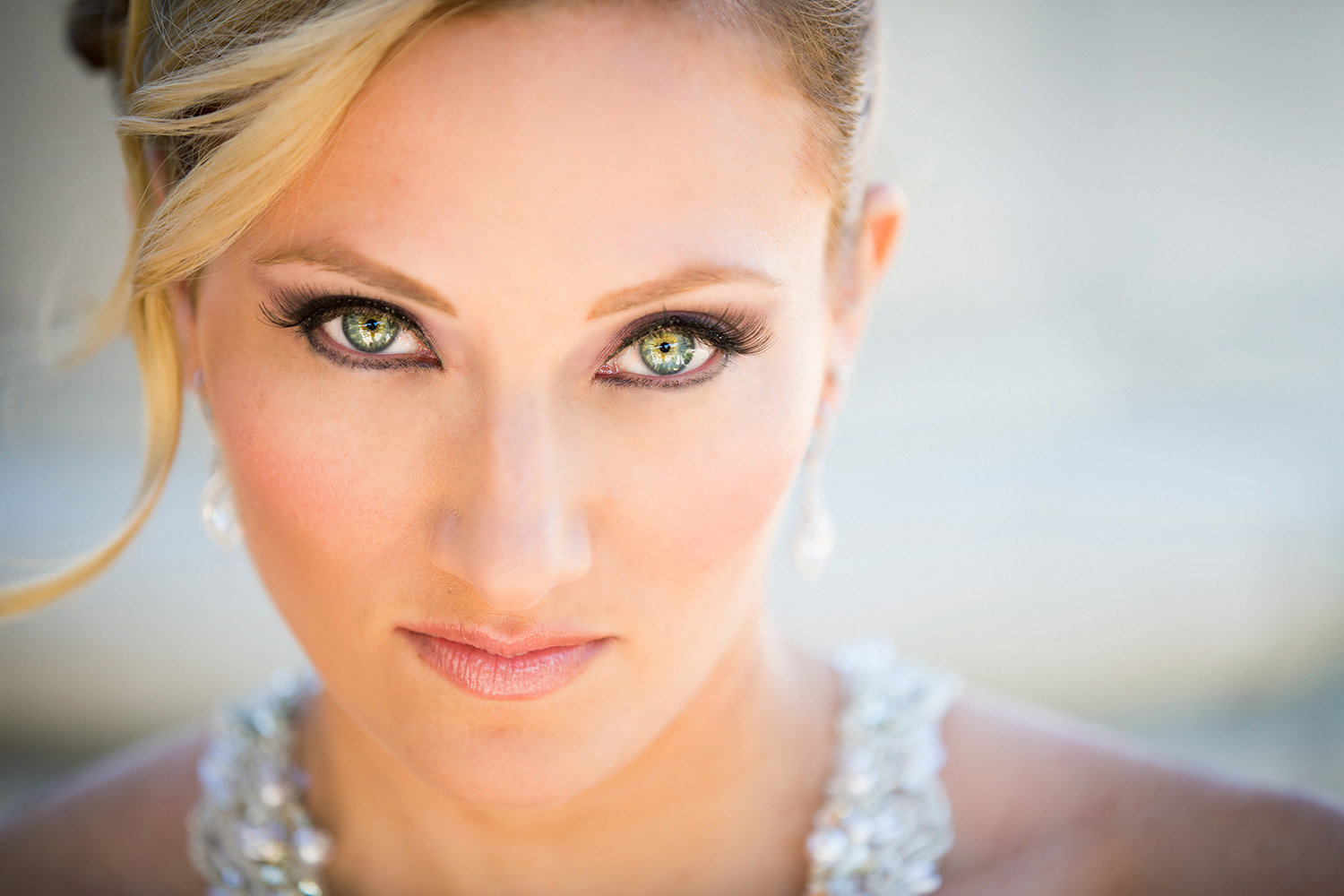 Wilson Creek wedding photos stunning bride headshot