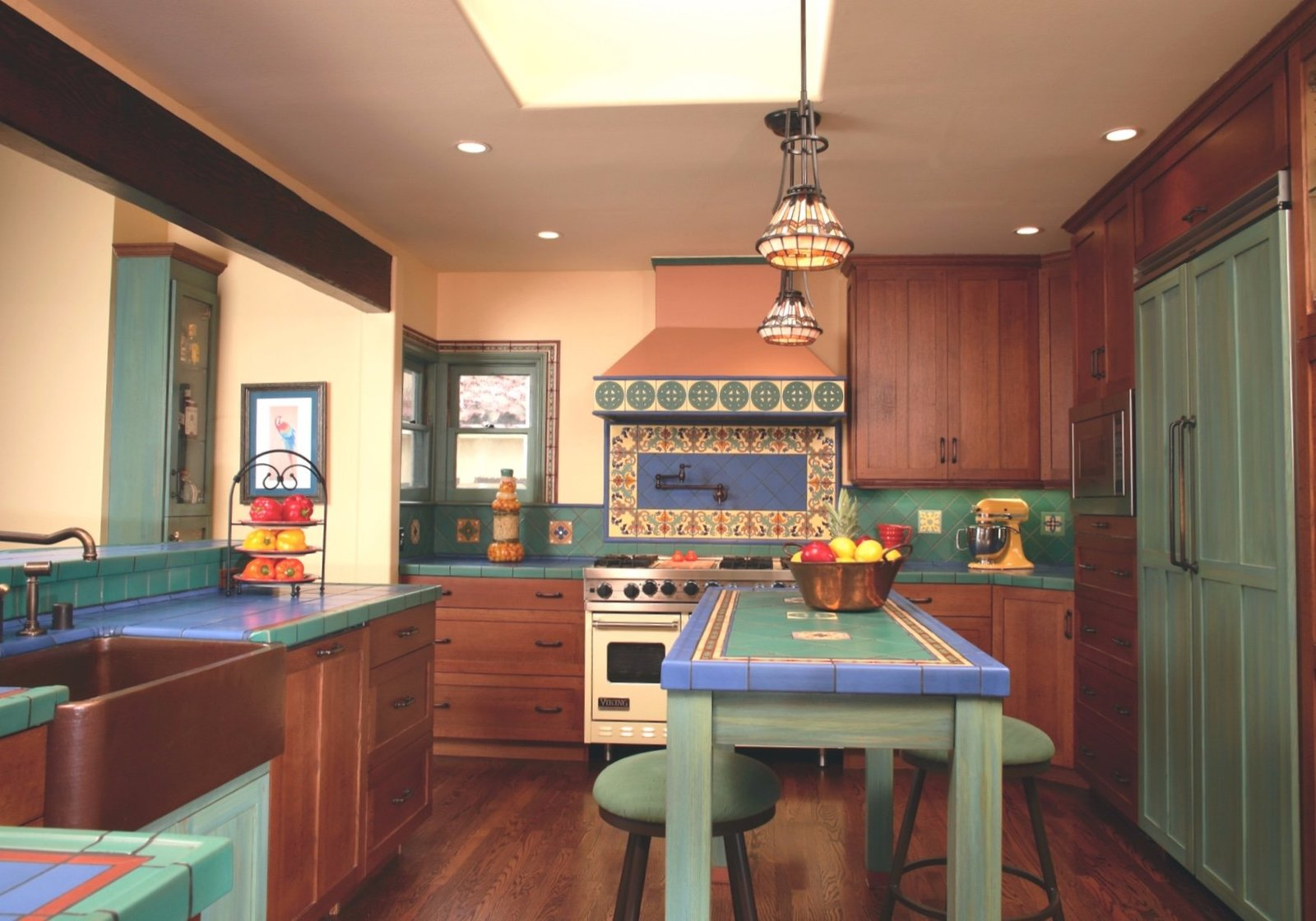 Sante Fe Artist's Colorful Kitchen