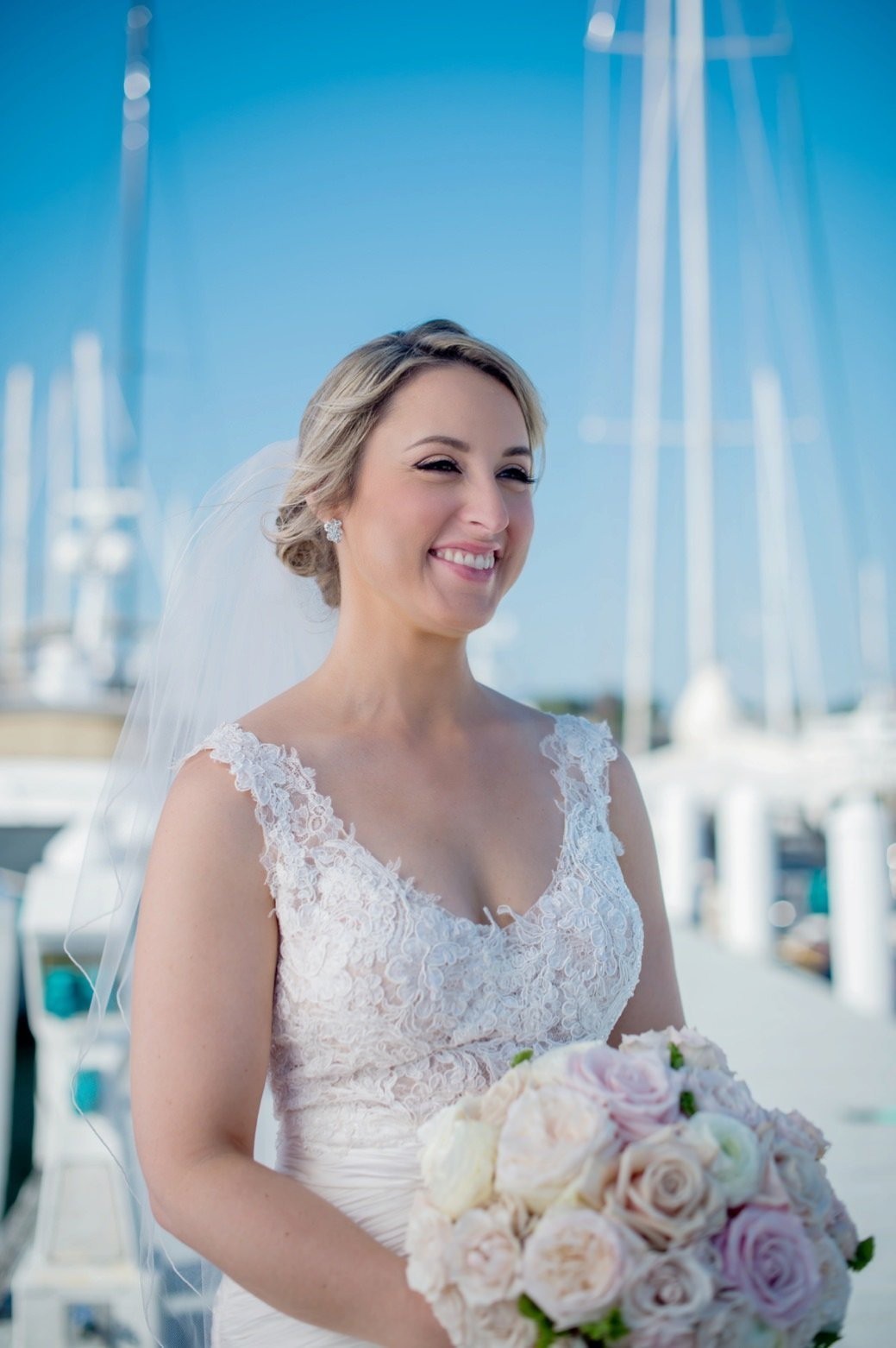 Classic bridal beauty for Belle Mer Wedding in Newport, RI