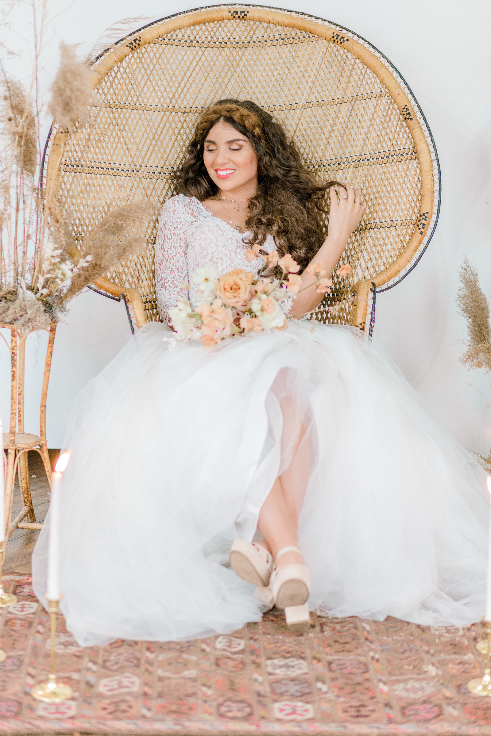 Neutral floral inspired styled bridal studio shoot fox and finch studios bethlehem pennylvania wedding photographer (92 of 155)
