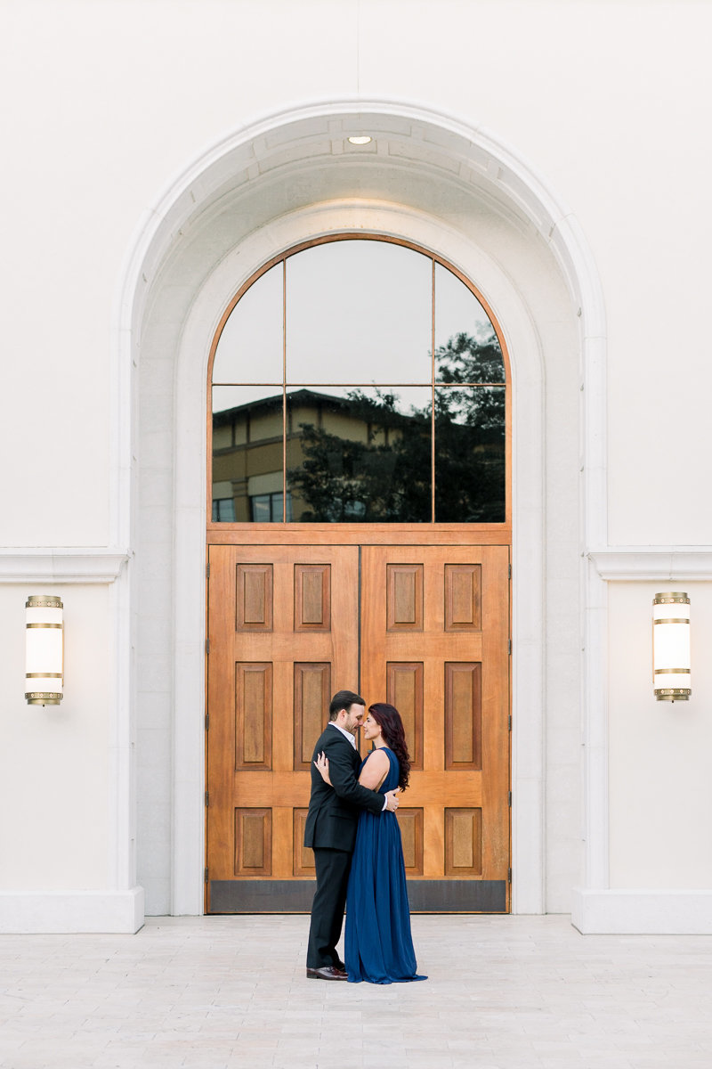 Winter Park Engagement Photographer | Winter Park Wedding Photographer | Bride and Groom holding eachother-12