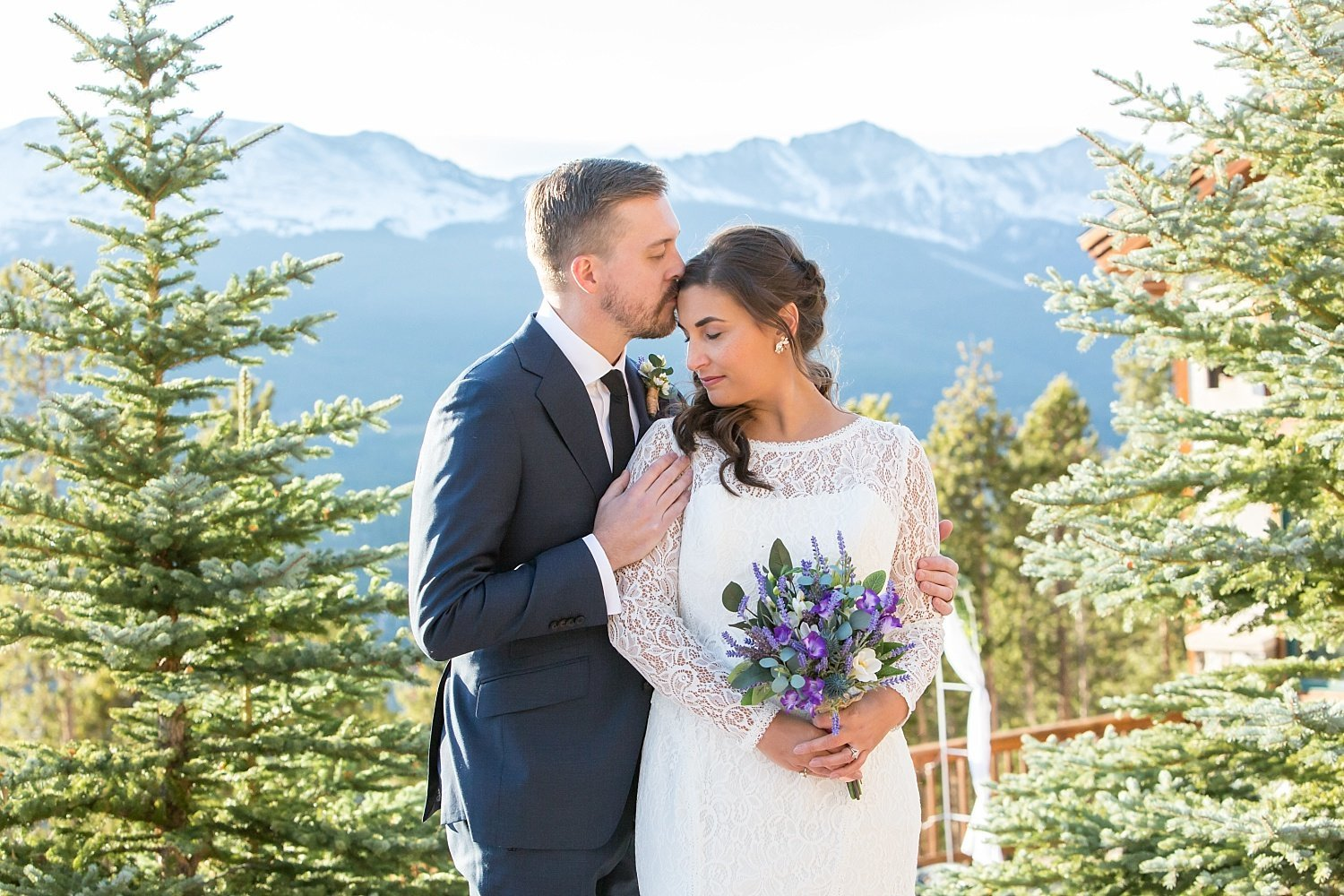 Colorado wedding photographer couple portrait in Breckenridge