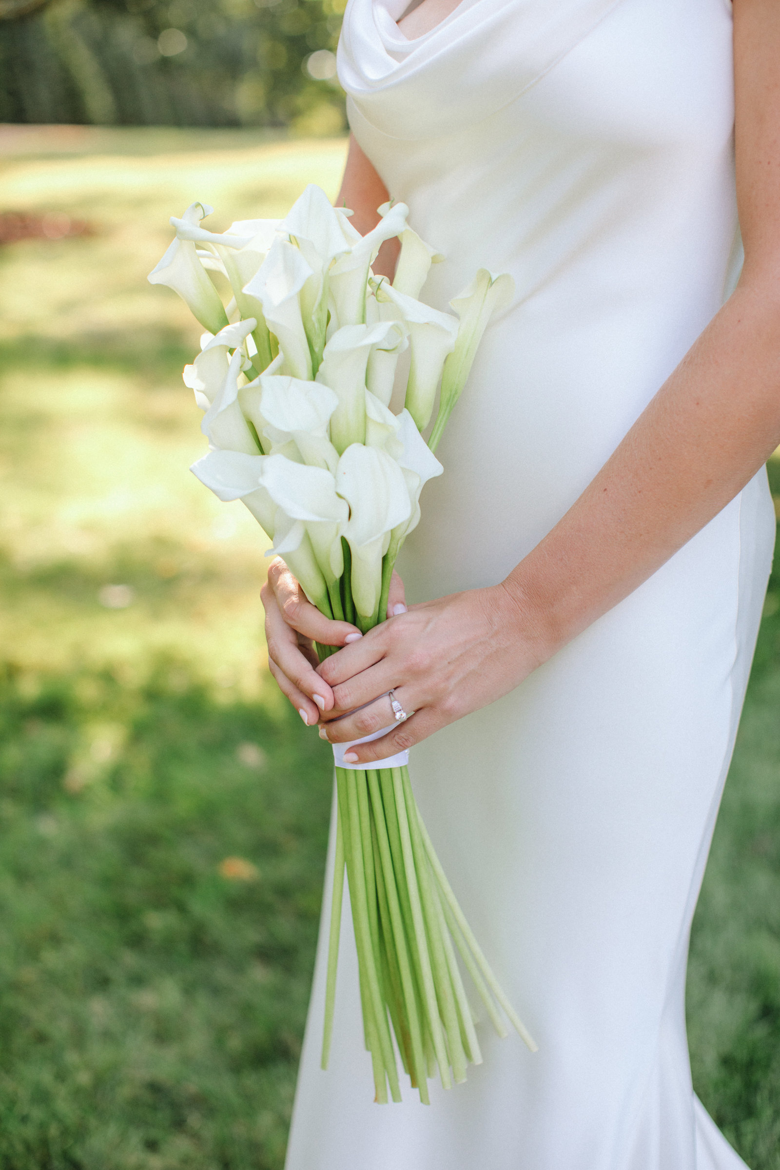 Lily Bouquet Outdoor Wedding