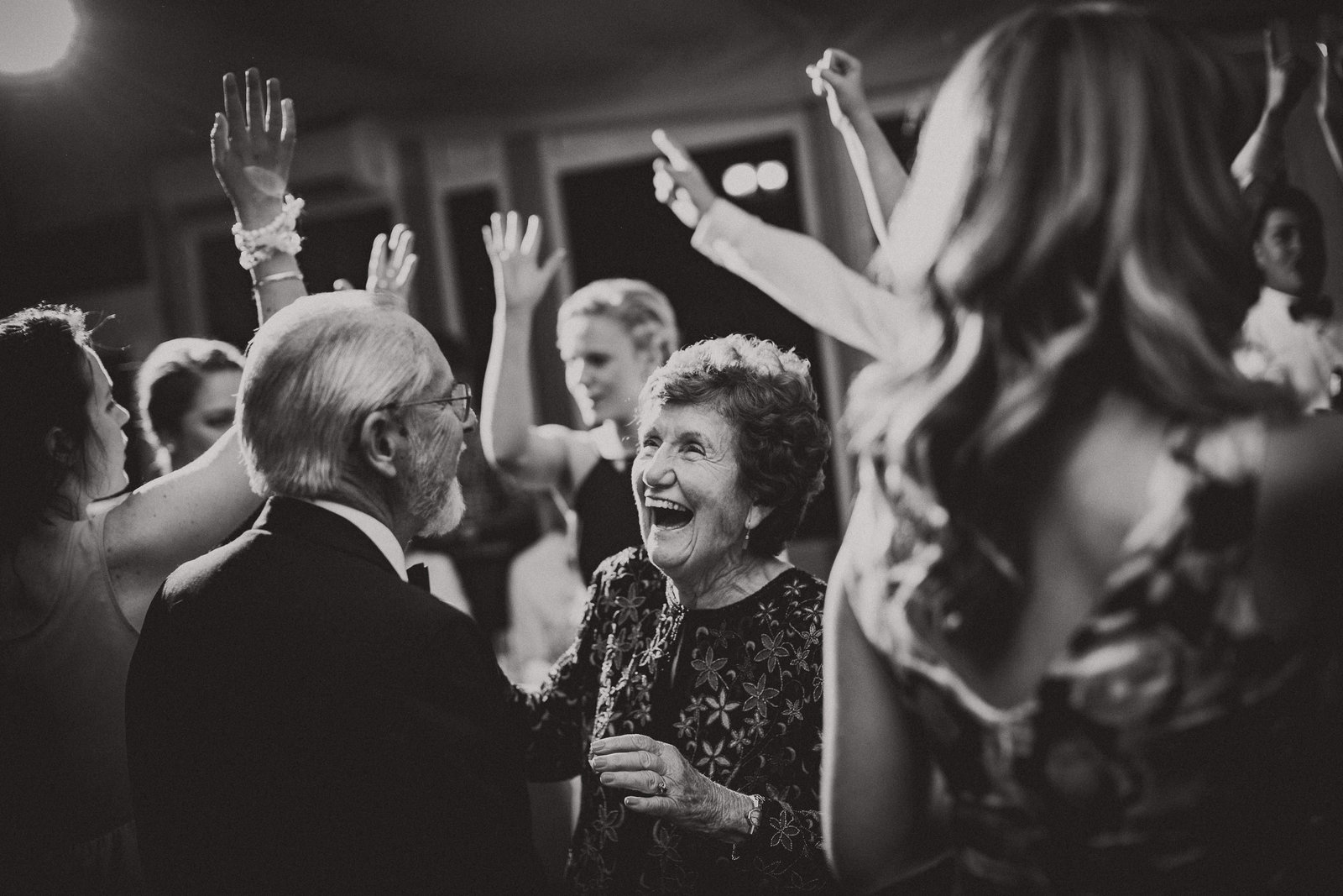 dancing nanna at a wedding