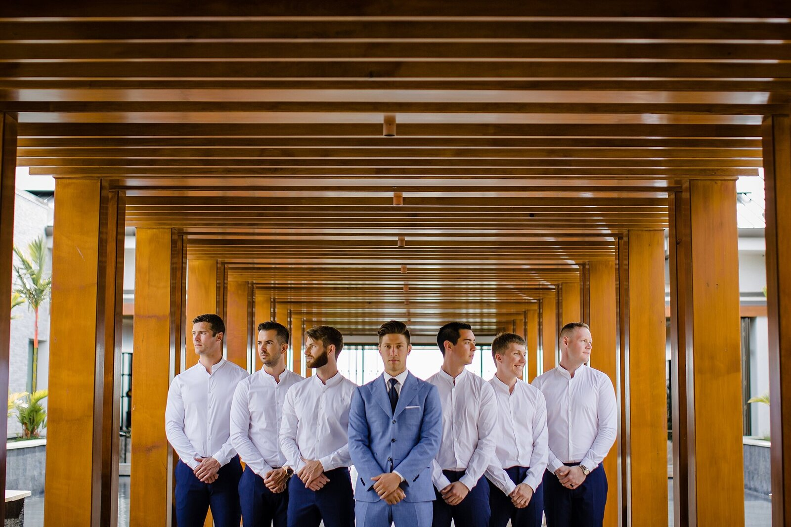 groom with his guys