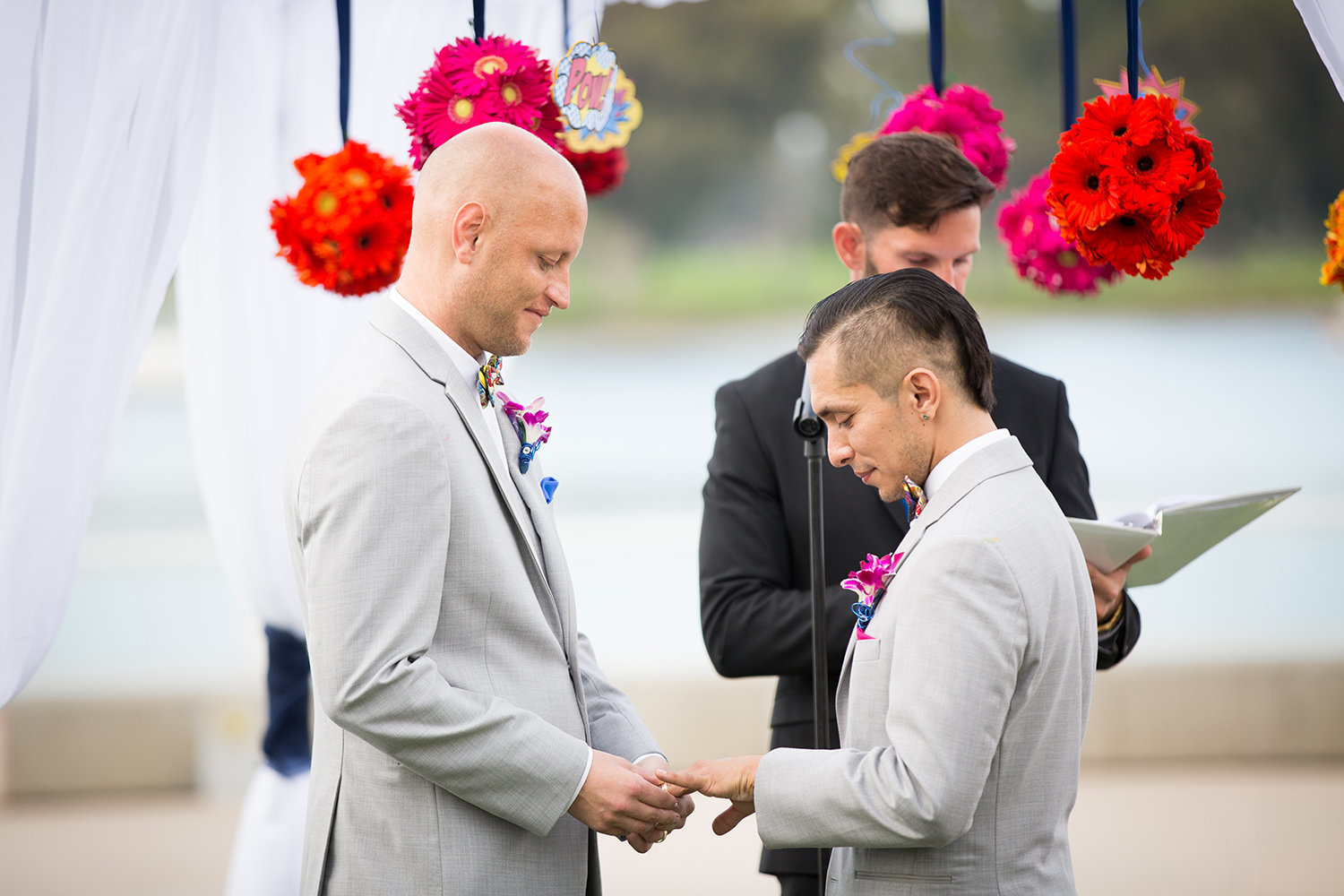 Grooms exchange rings | LGBT Wedding | Coronado