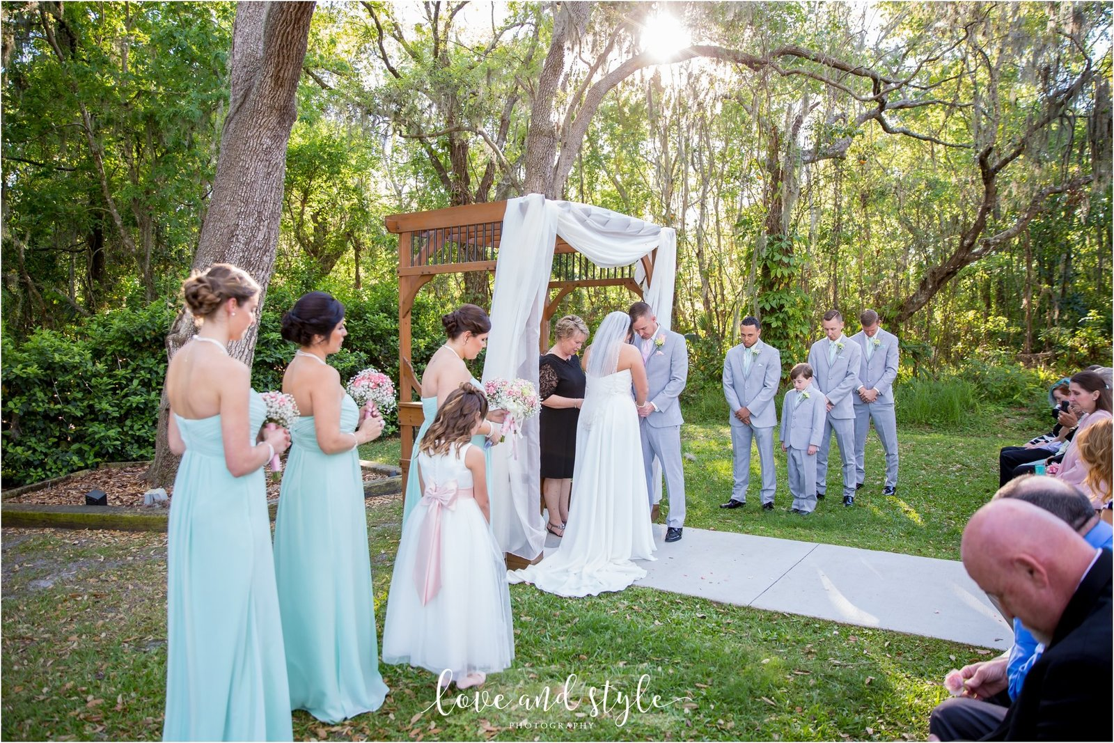 Bakers Ranch Wedding Photography of the ceremony on the grass