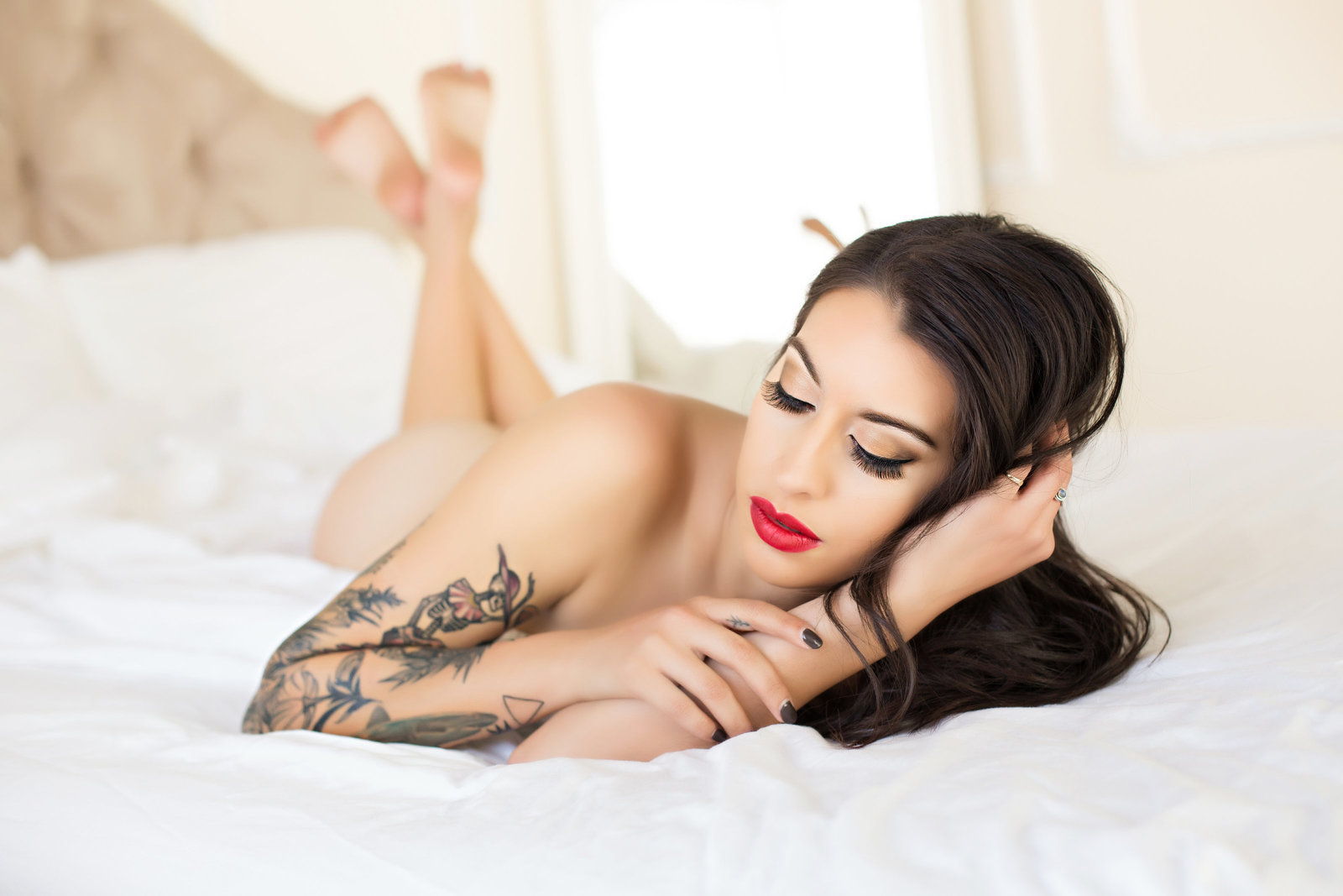 red lips tattoos, le boudoir studio