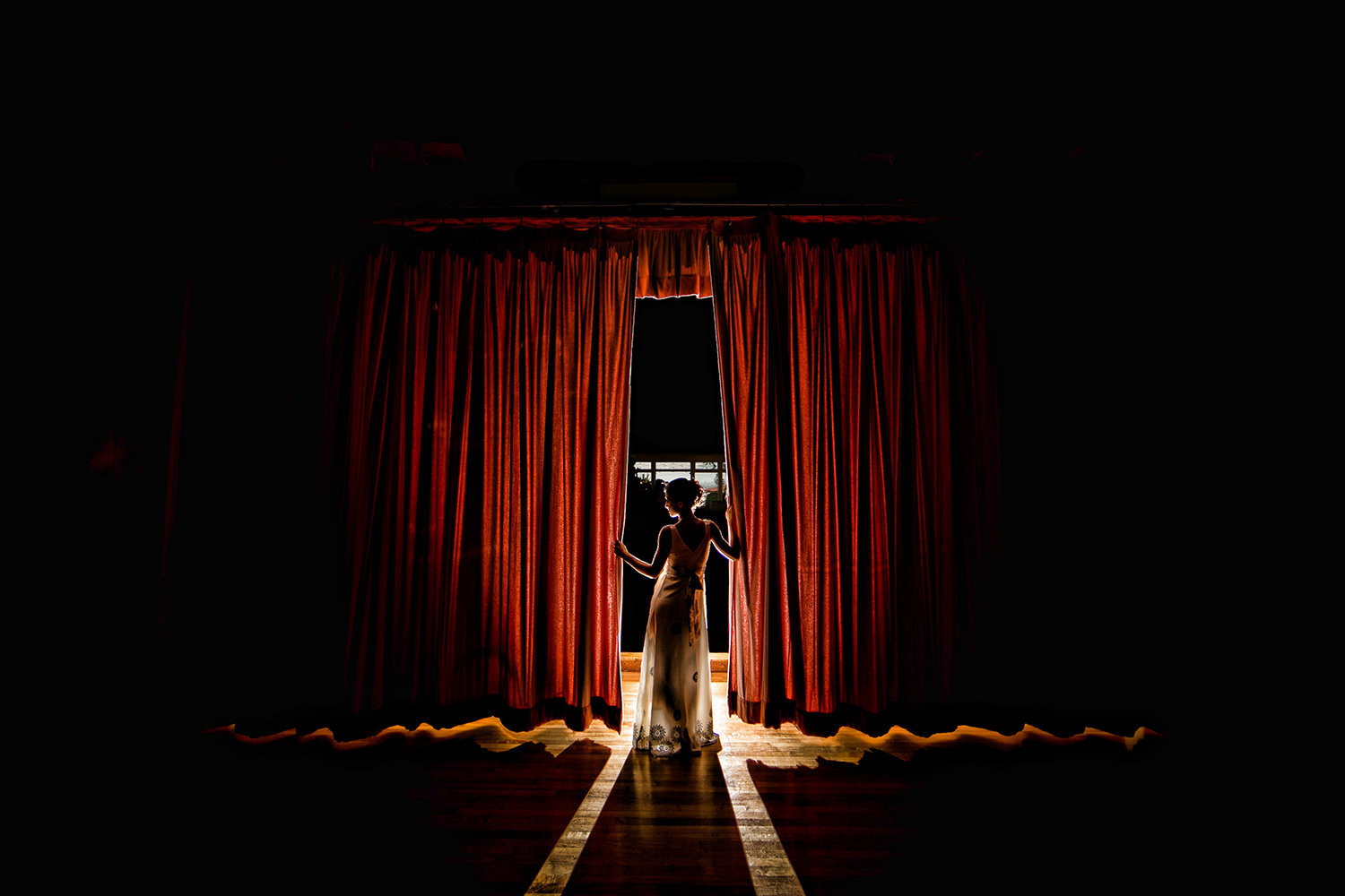 Thursday Club wedding photos dramatic bridal portrait