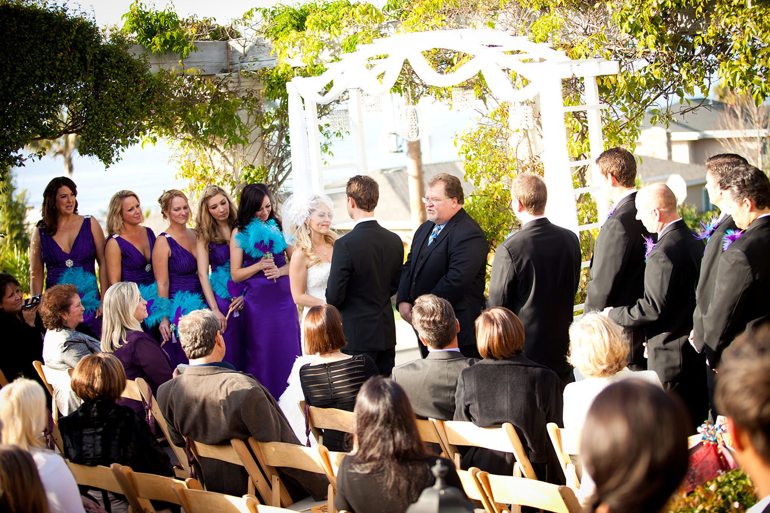 full ceremony with bridal party