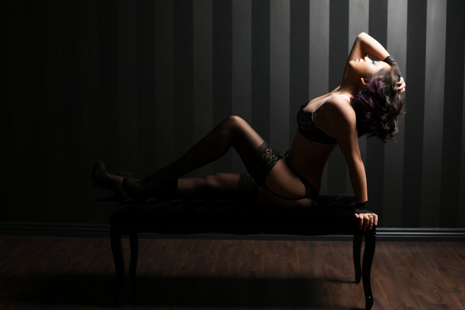 Sassy rocker boudoir photography